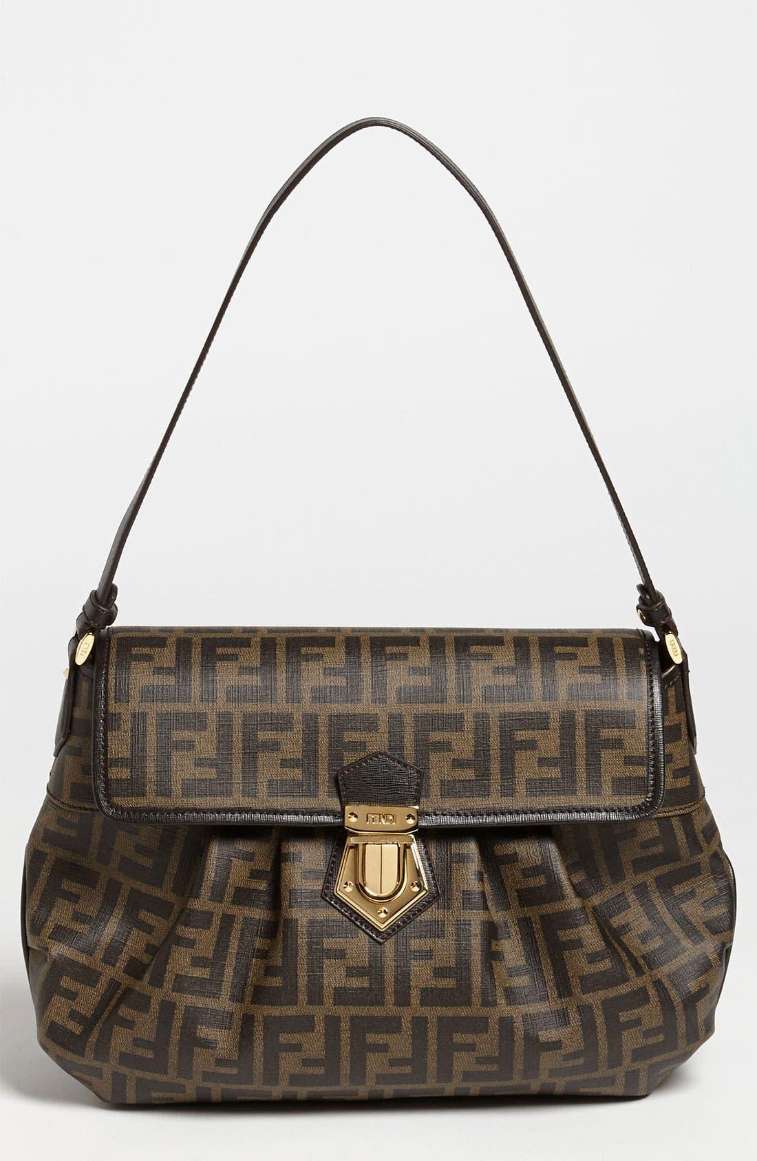 Main Image - Fendi 'Tomorrow Zucca - Small' Shoulder Bag