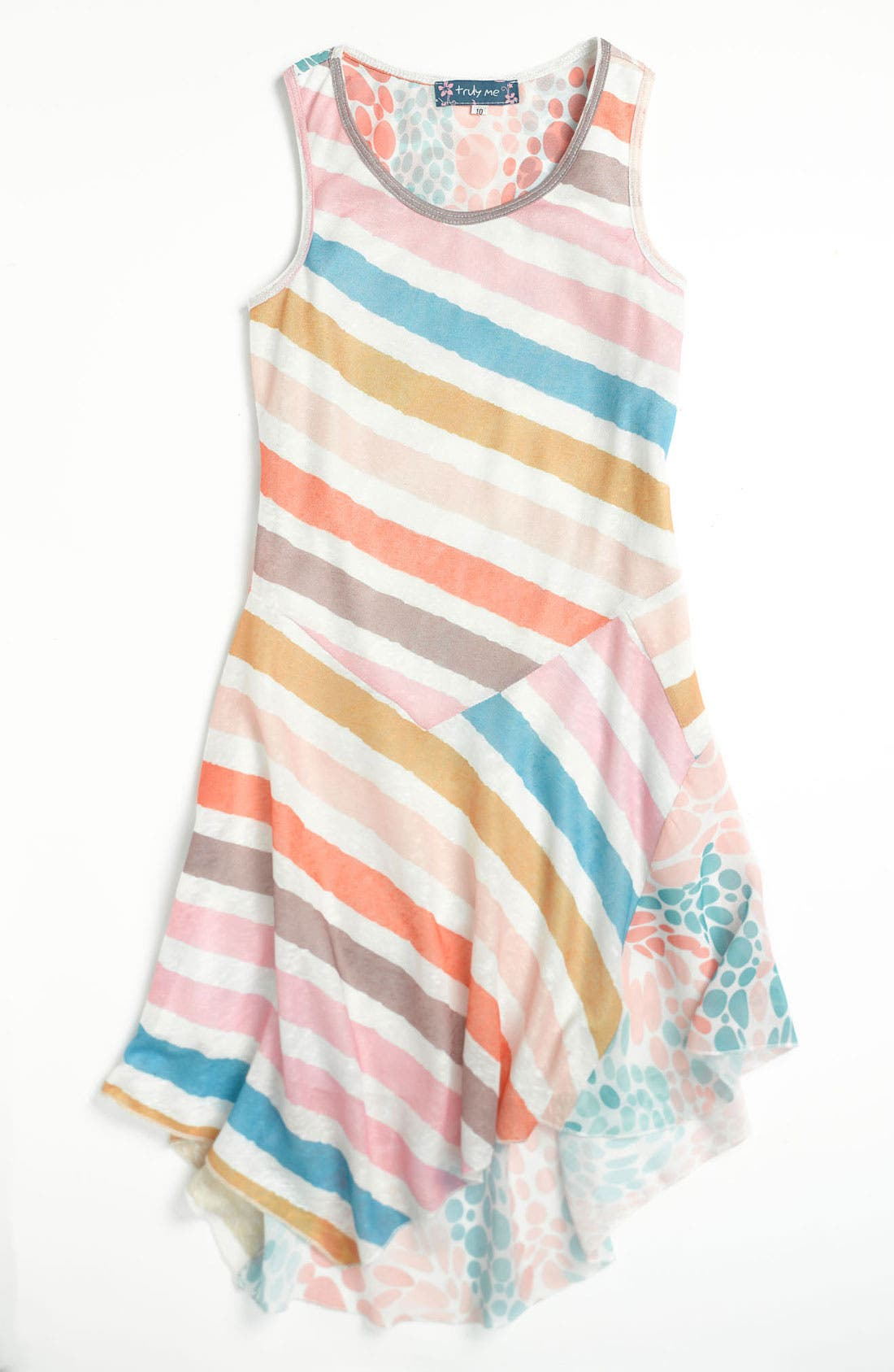 Alternate Image 1 Selected - Truly Me Mixed Print Dress (Little Girls & Big Girls)
