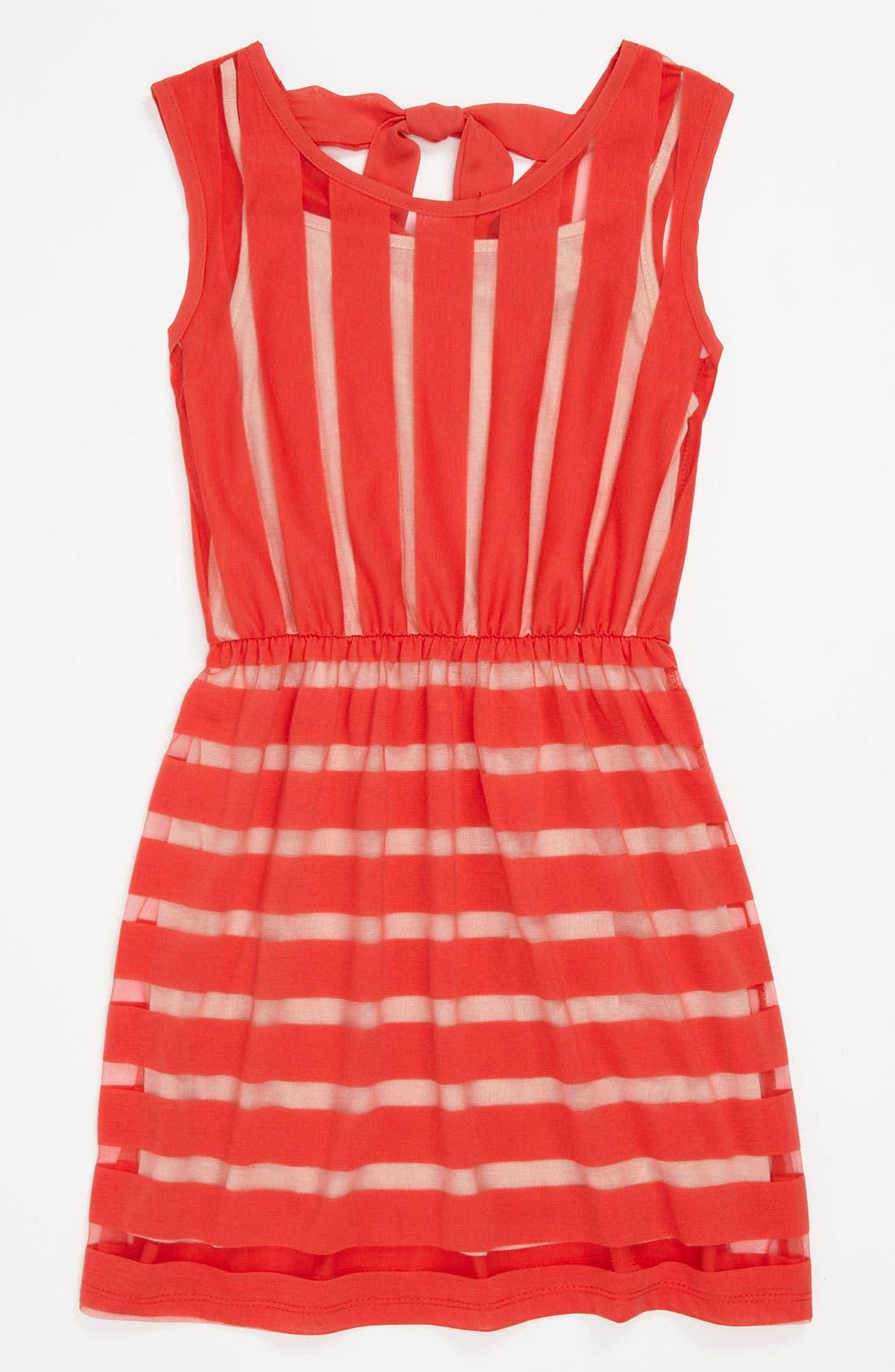 Alternate Image 1 Selected - Kiddo Striped Sleeveless Dress (Big Girls)