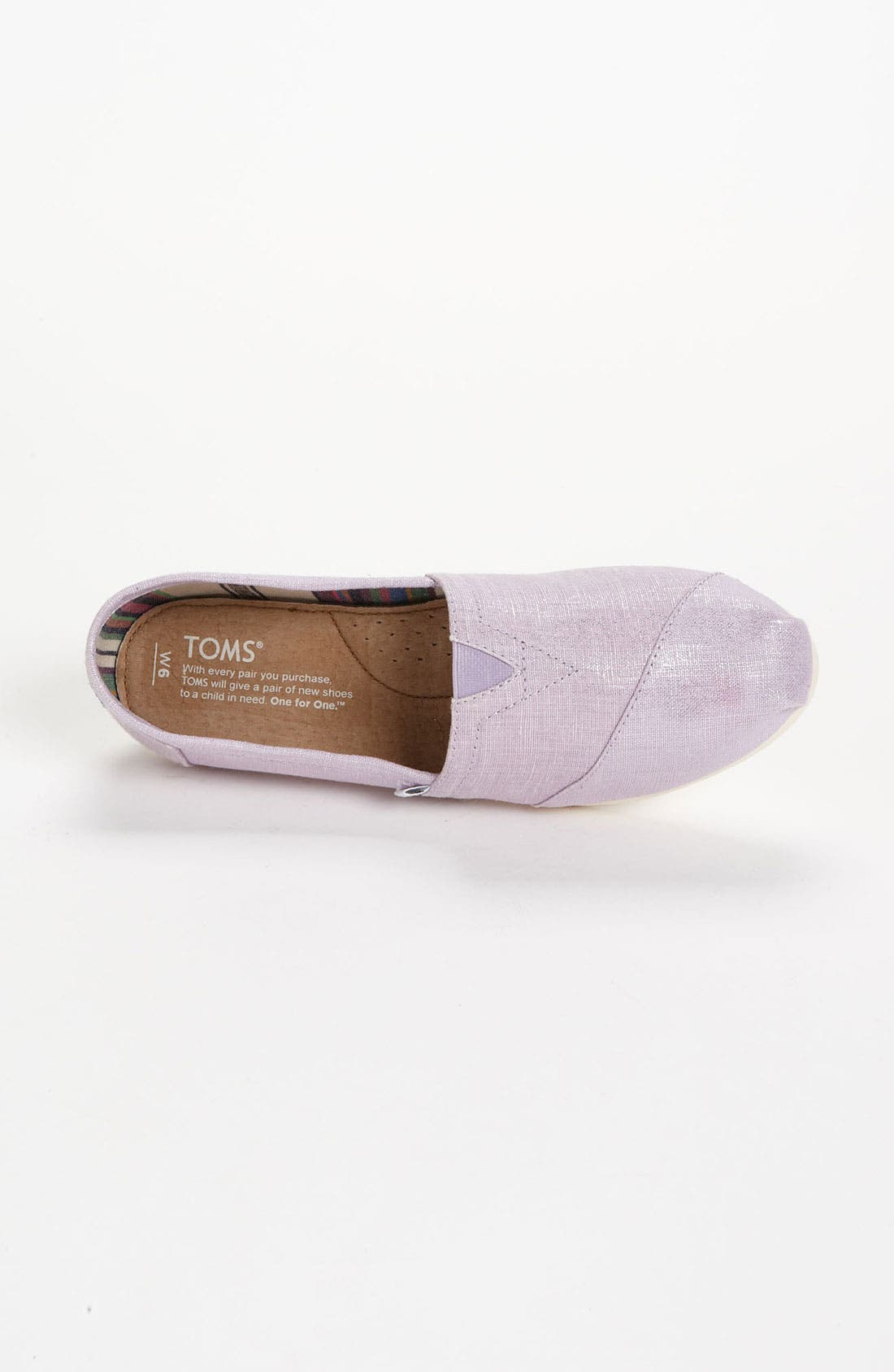 Alternate Image 3  - TOMS 'Classic' Metallic Slip-On (Women)