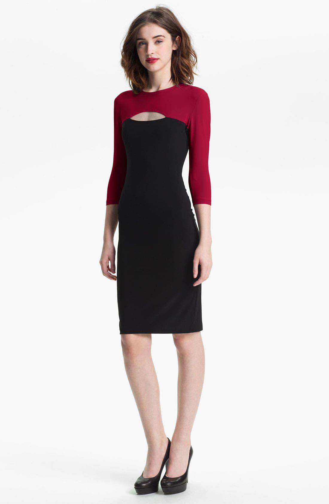 Alternate Image 1 Selected - KAMALIKULTURE Cutout Detail Jersey Sheath Dress