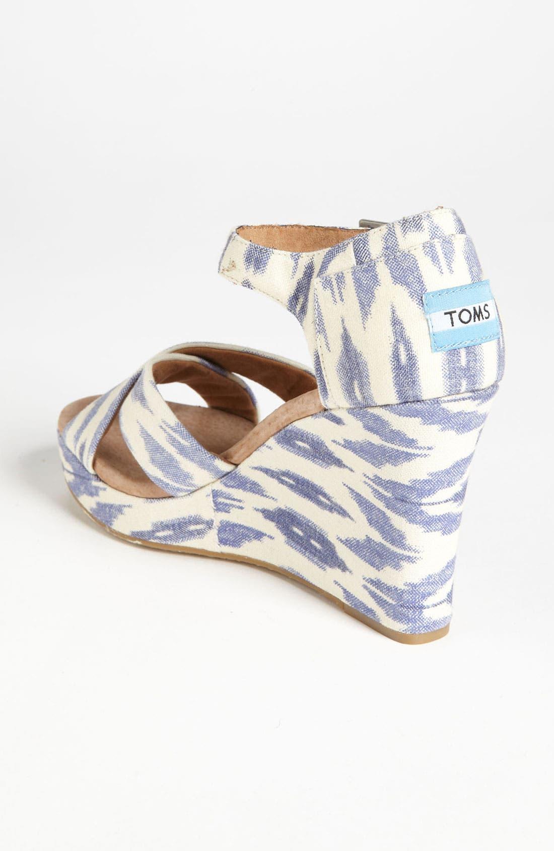 Alternate Image 2  - TOMS 'Ikat' Wedge Sandal