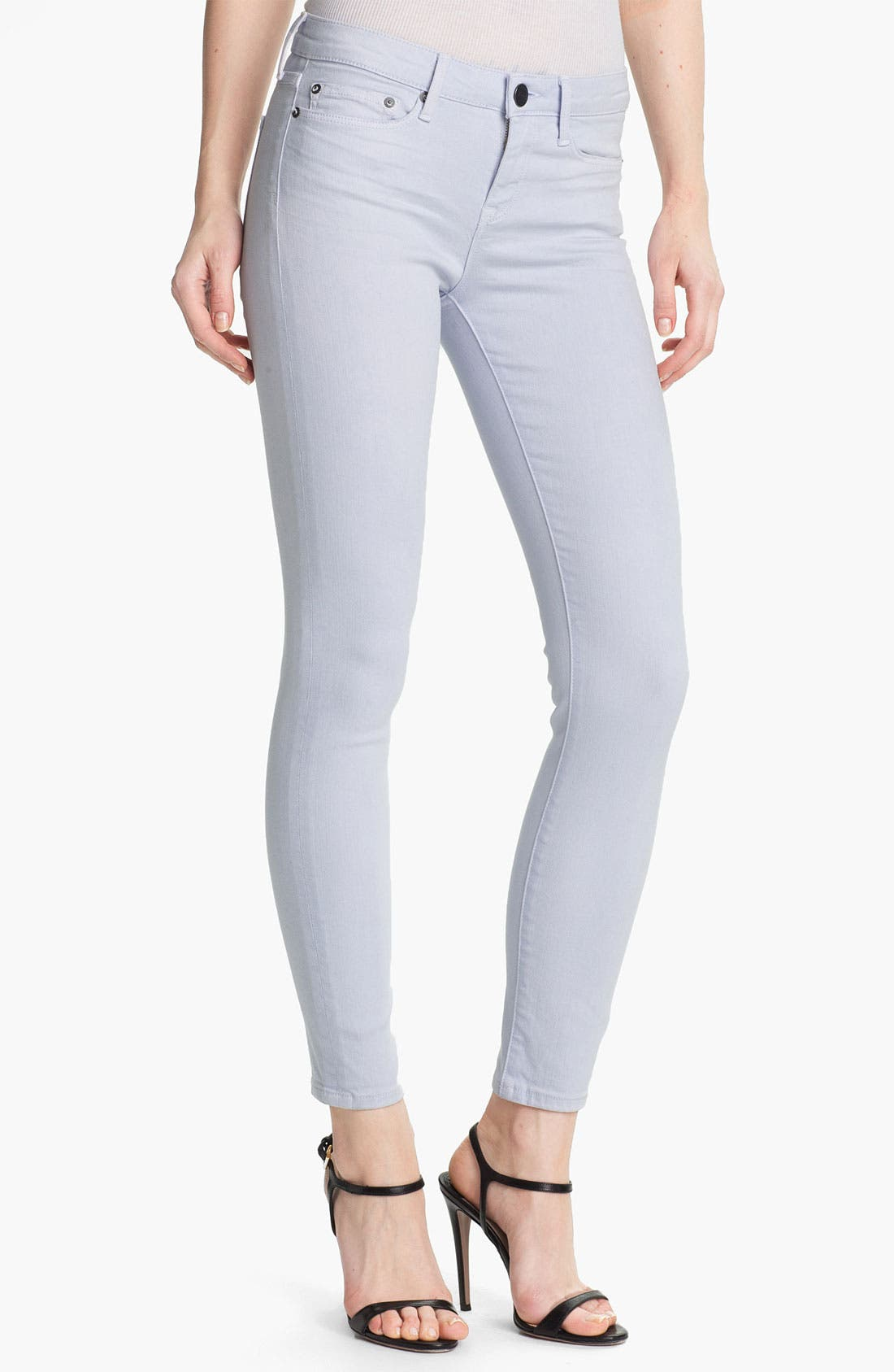 Main Image - Vince Colored Skinny Stretch Ankle Jeans (Lilac)