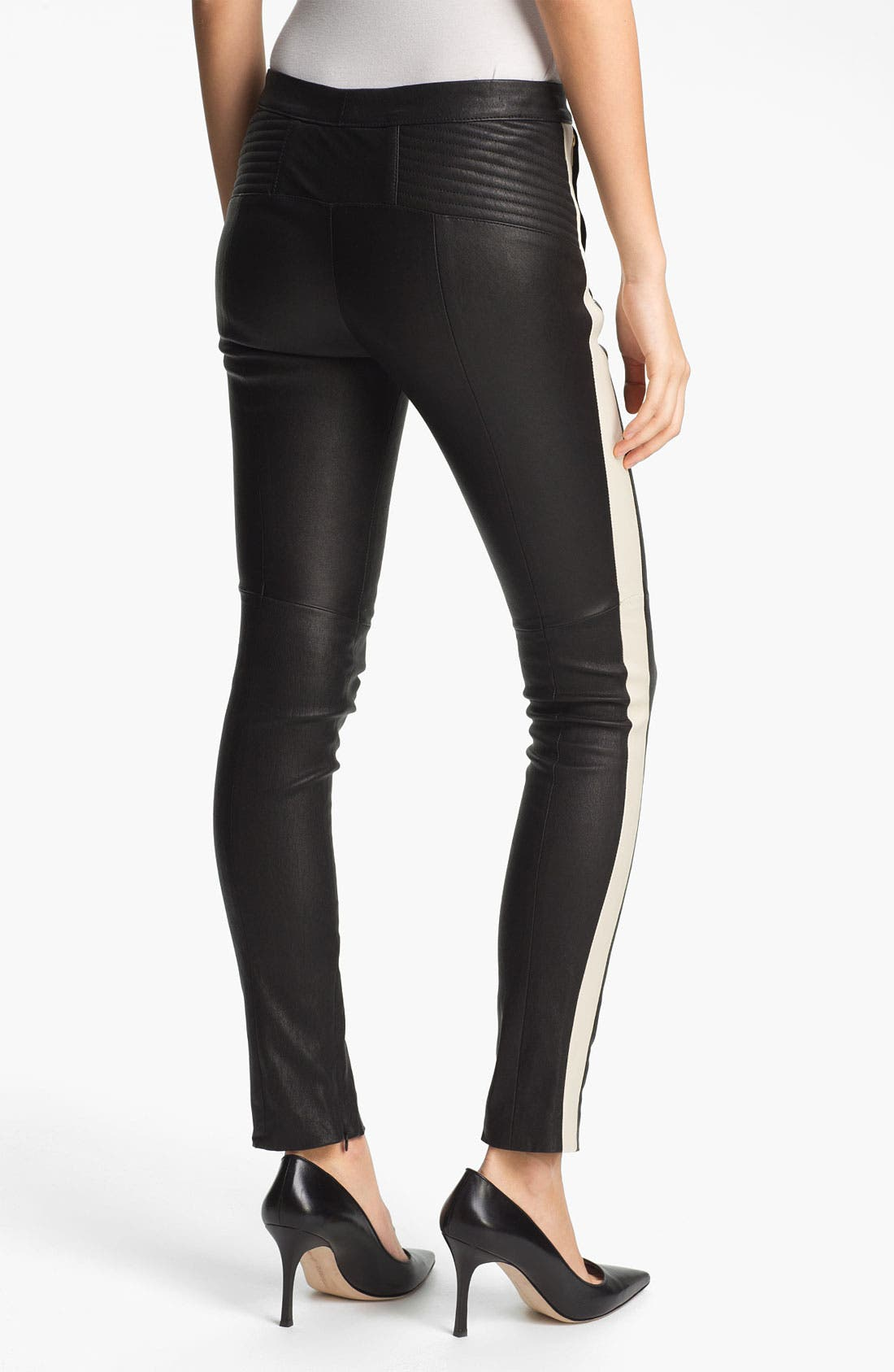 Alternate Image 2  - A.L.C. 'Hendon' Leather Pants