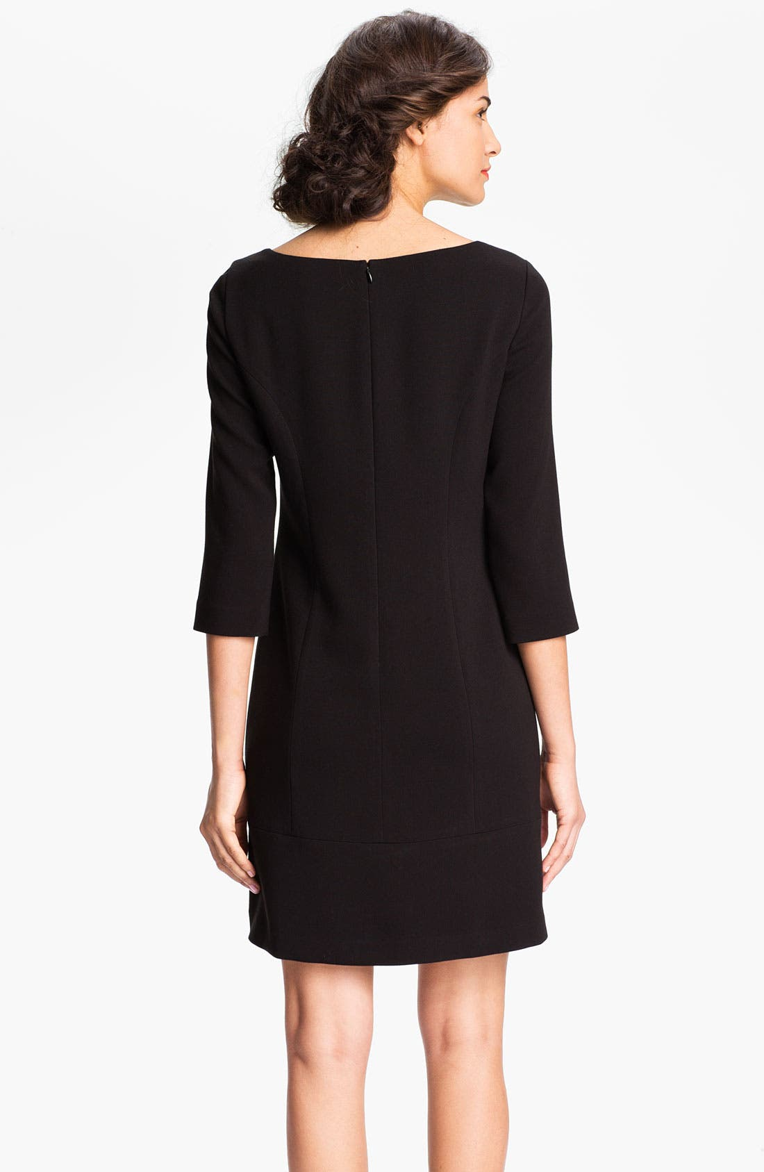 Alternate Image 2  - Eliza J Keyhole Knit Shift Dress (Petite)
