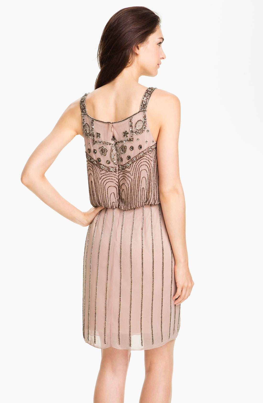 Alternate Image 2  - JS Collections Beaded Chiffon Blouson Dress (Petite)