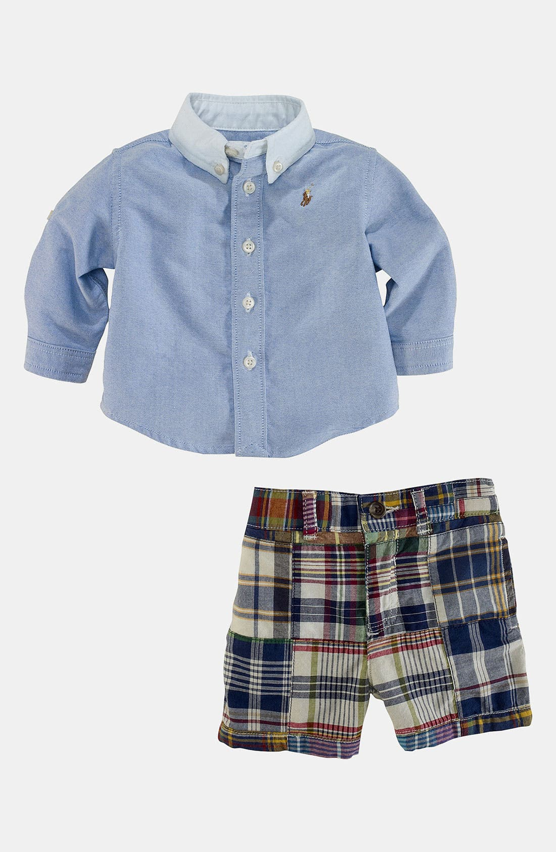 Alternate Image 1 Selected - Ralph Lauren Shirt & Shorts (Baby)