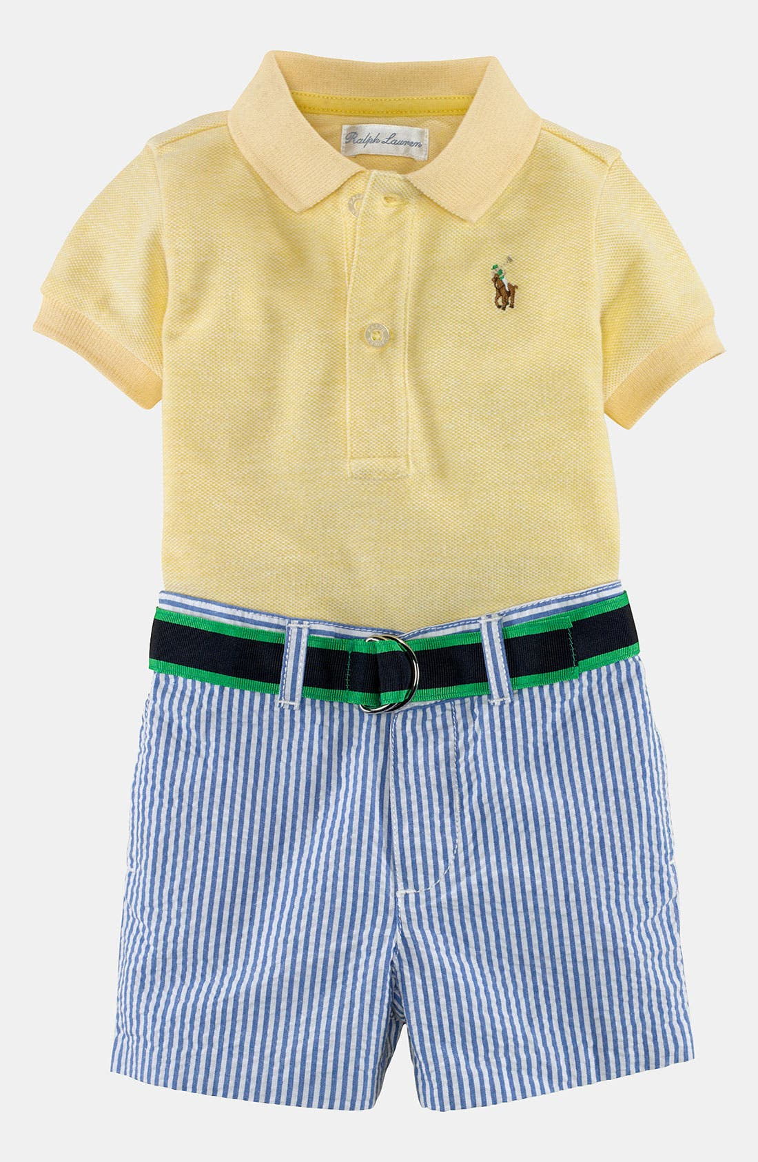 Alternate Image 2  - Ralph Lauren Polo & Shorts (Baby)