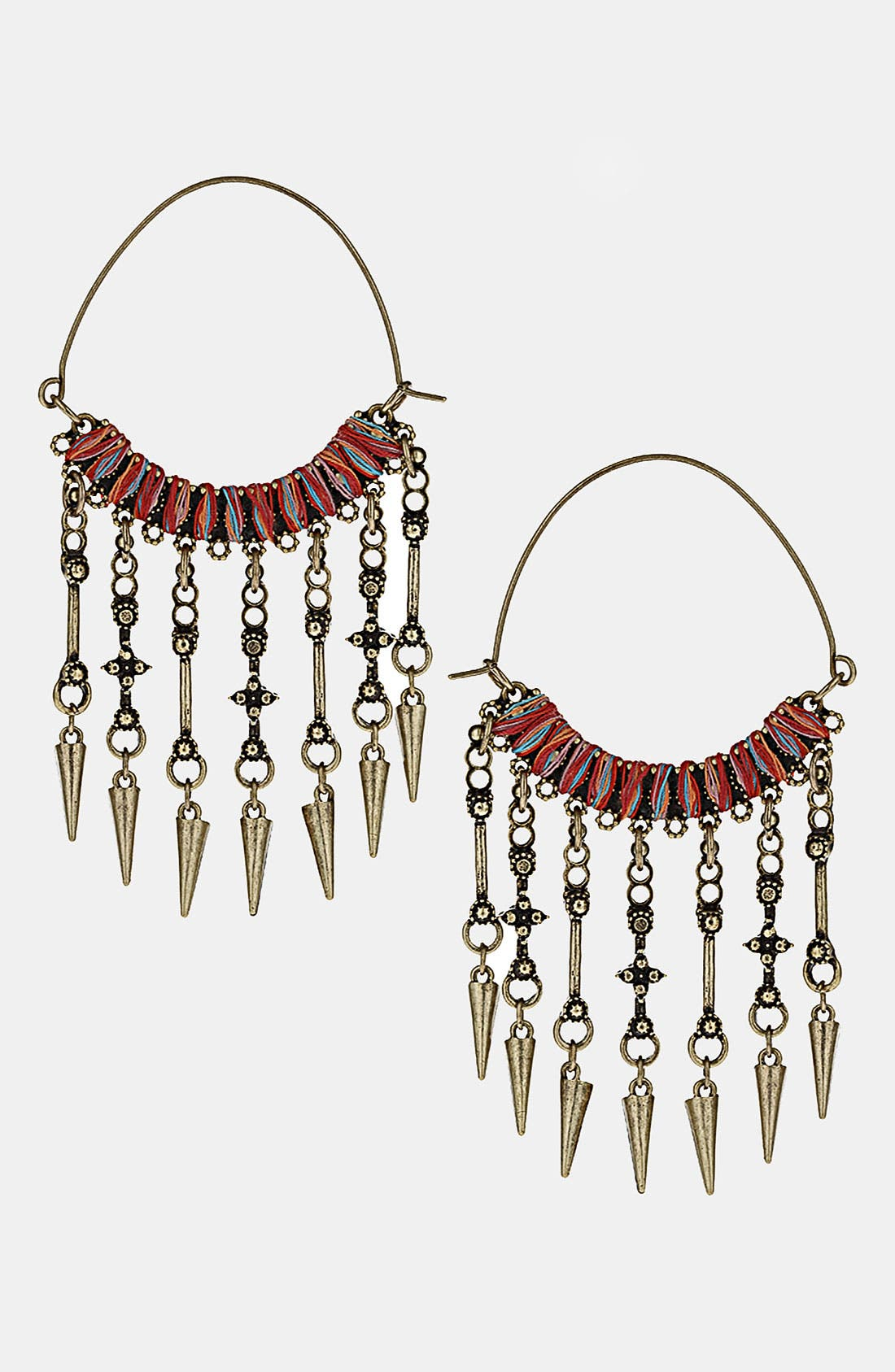 Main Image - Topshop Wrapped Hoop & Spikes Earrings