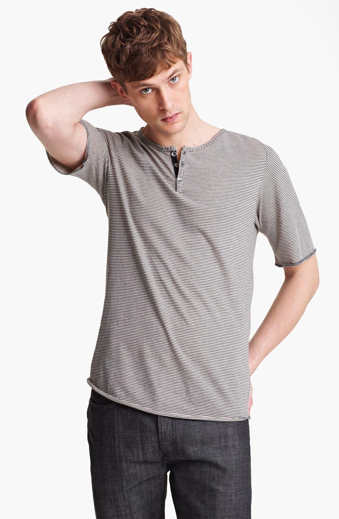 Main Image - Field Scout Stripe Raglan Henley T-Shirt