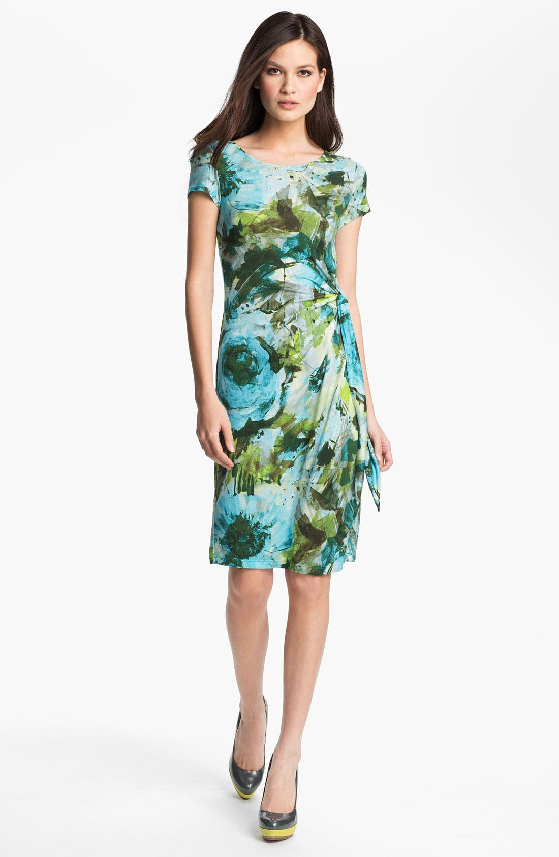 Main Image - Lafayette 148 New York Garden Floral Jersey Dress