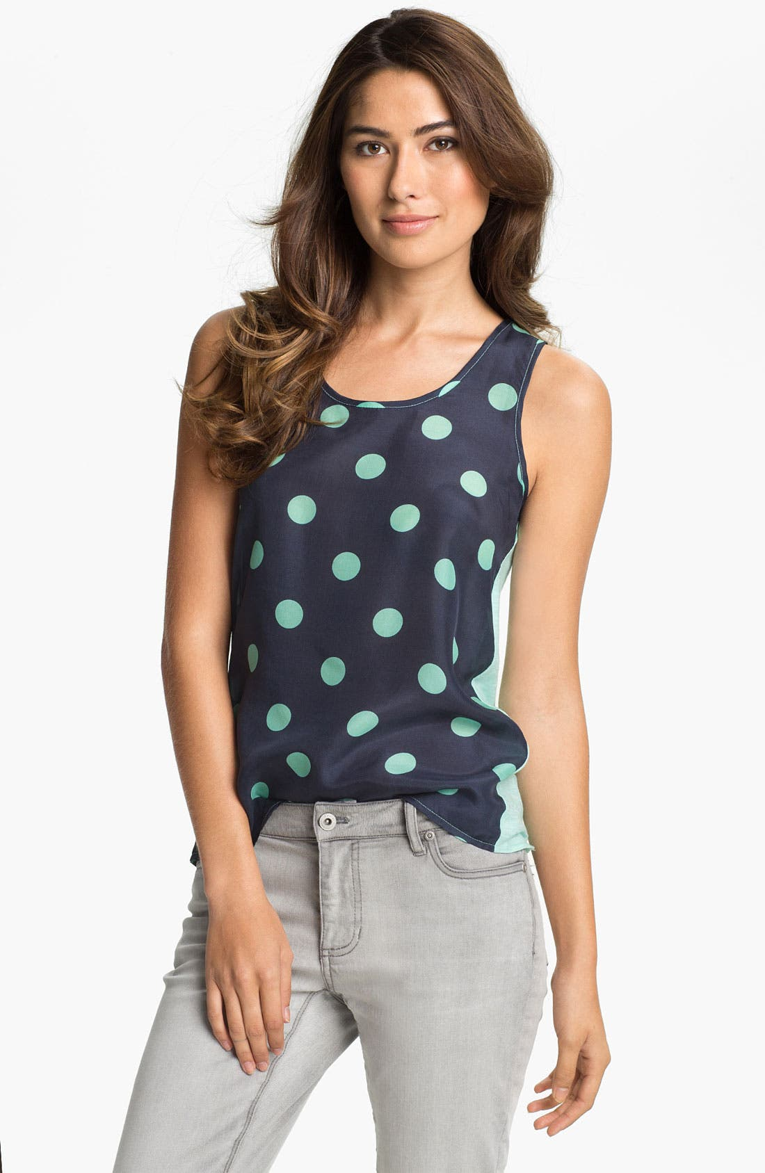 Main Image - Two by Vince Camuto Mixed Media Tank