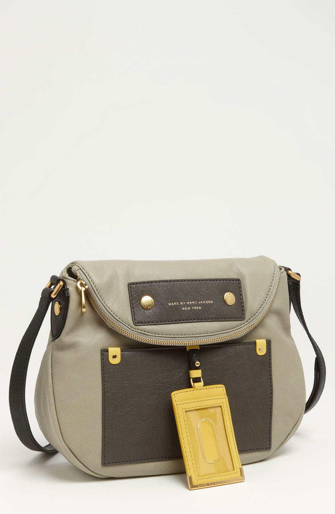 Main Image - MARC BY MARC JACOBS 'Preppy Colorblock - Natasha' Leather Crossbody Bag