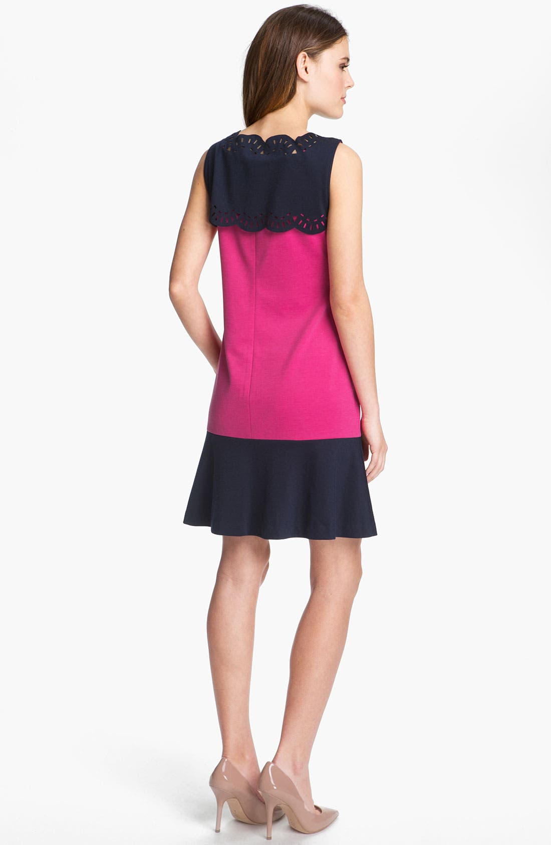 Alternate Image 2  - Donna Morgan Colorblocked Ponte Shift Dress