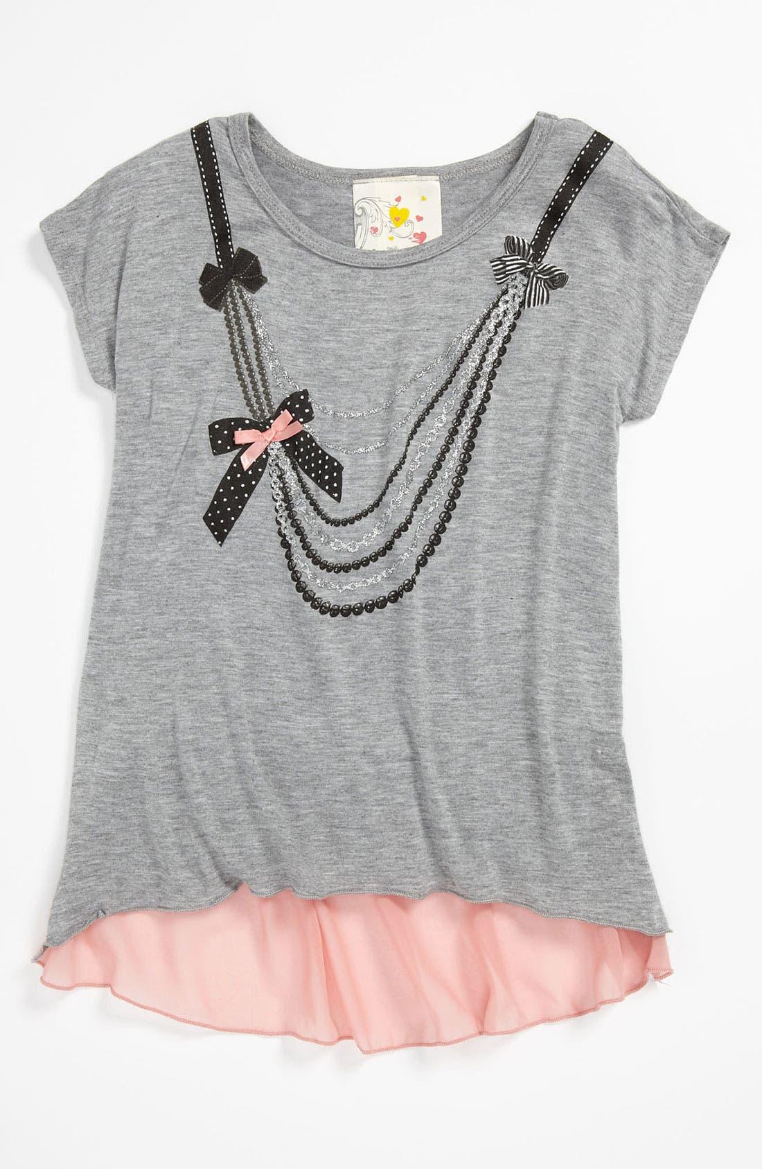 Main Image - Jenna & Jessie 'Necklace' Tee (Little Girls)