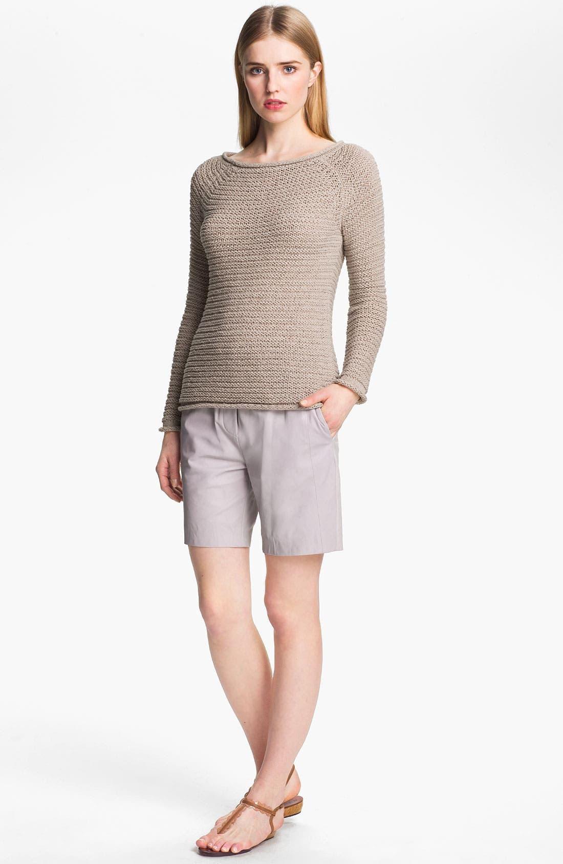 Alternate Image 5  - Halston Heritage Leather Shorts
