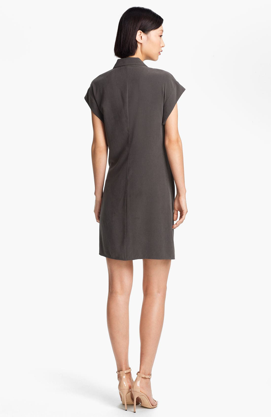 Alternate Image 2  - Halston Heritage Wrap Front Silk Dress