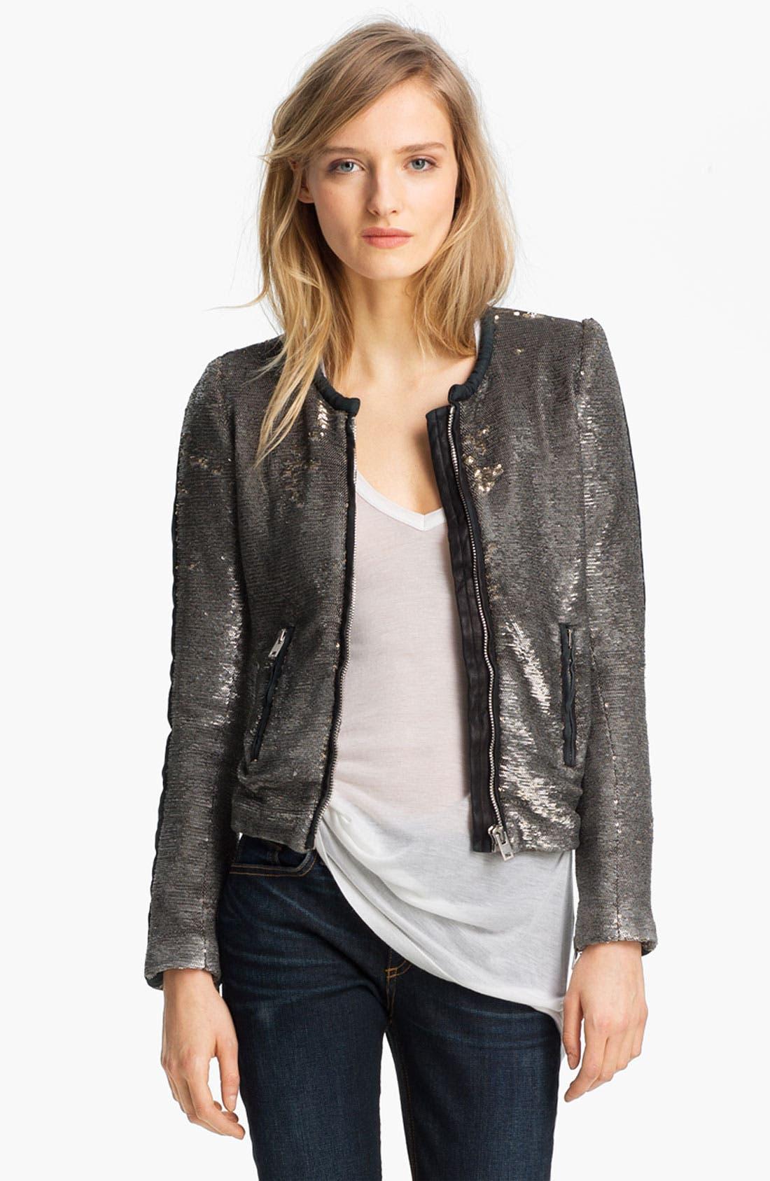 Alternate Image 1 Selected - IRO Collarless Sequin Jacket