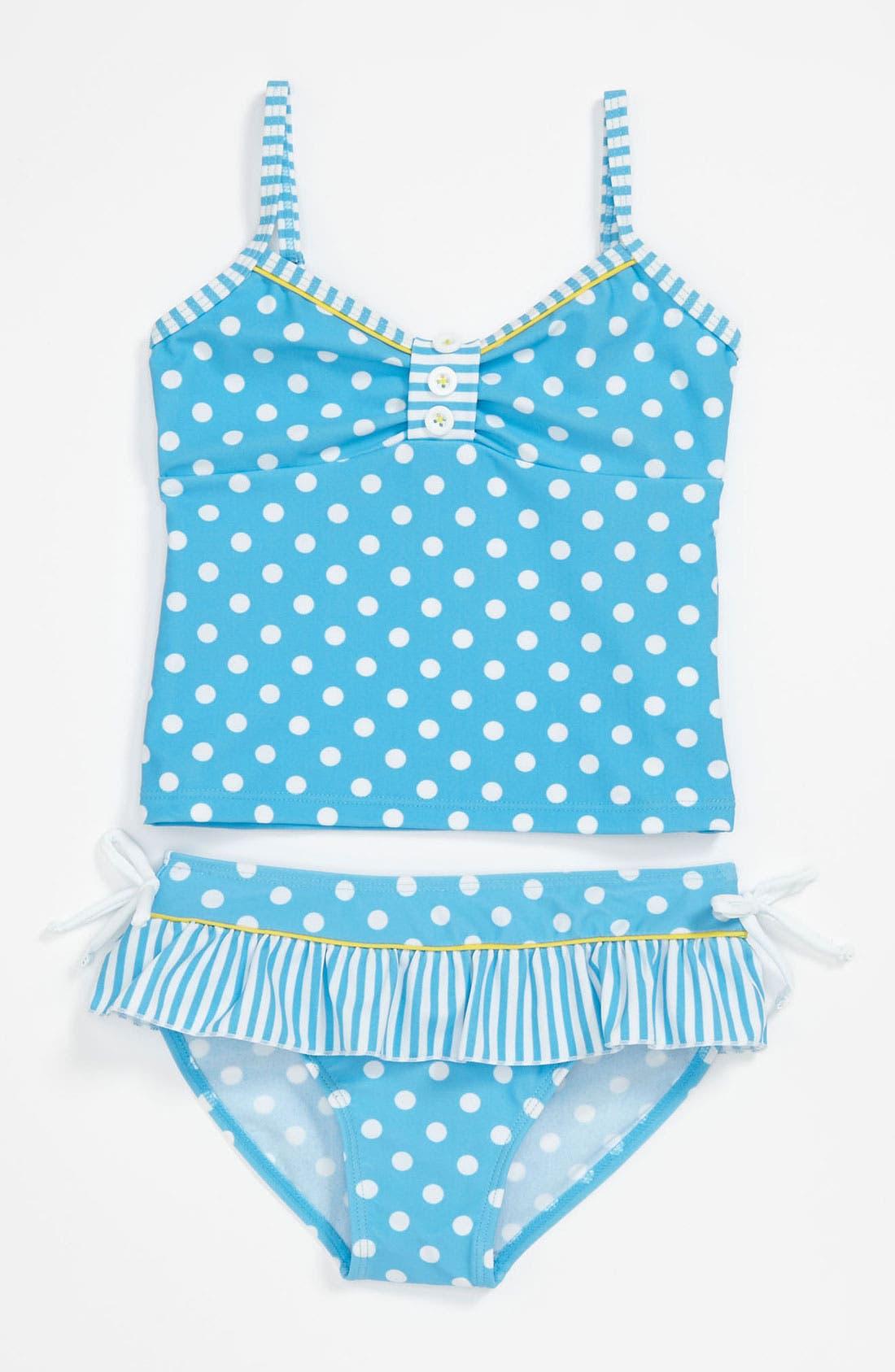 Alternate Image 1 Selected - Pumpkin Patch Two Piece Tankini Swimsuit (Little Girls & Big Girls)