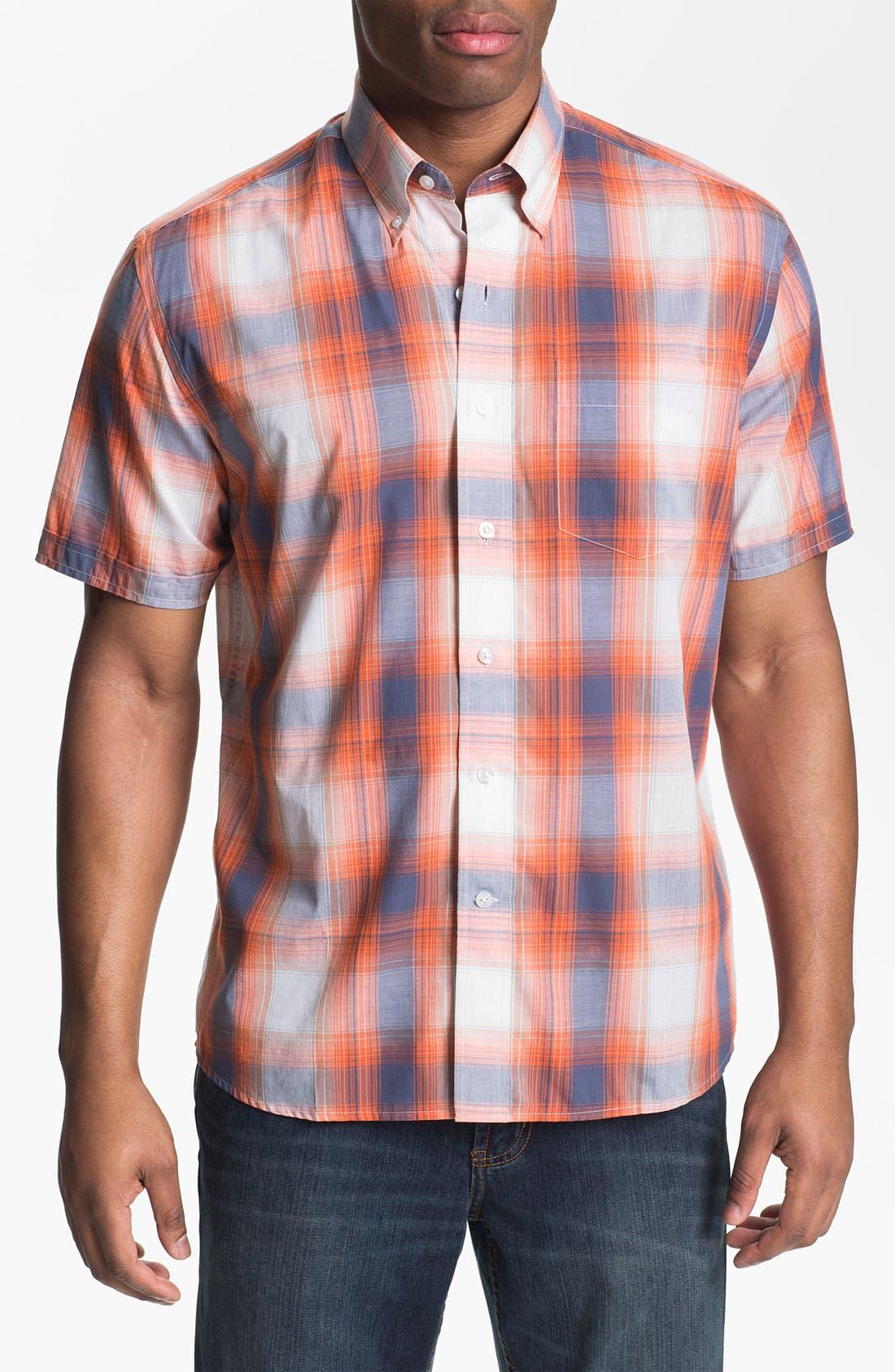 Alternate Image 1 Selected - Cutter & Buck 'Matthews' Plaid Sport Shirt