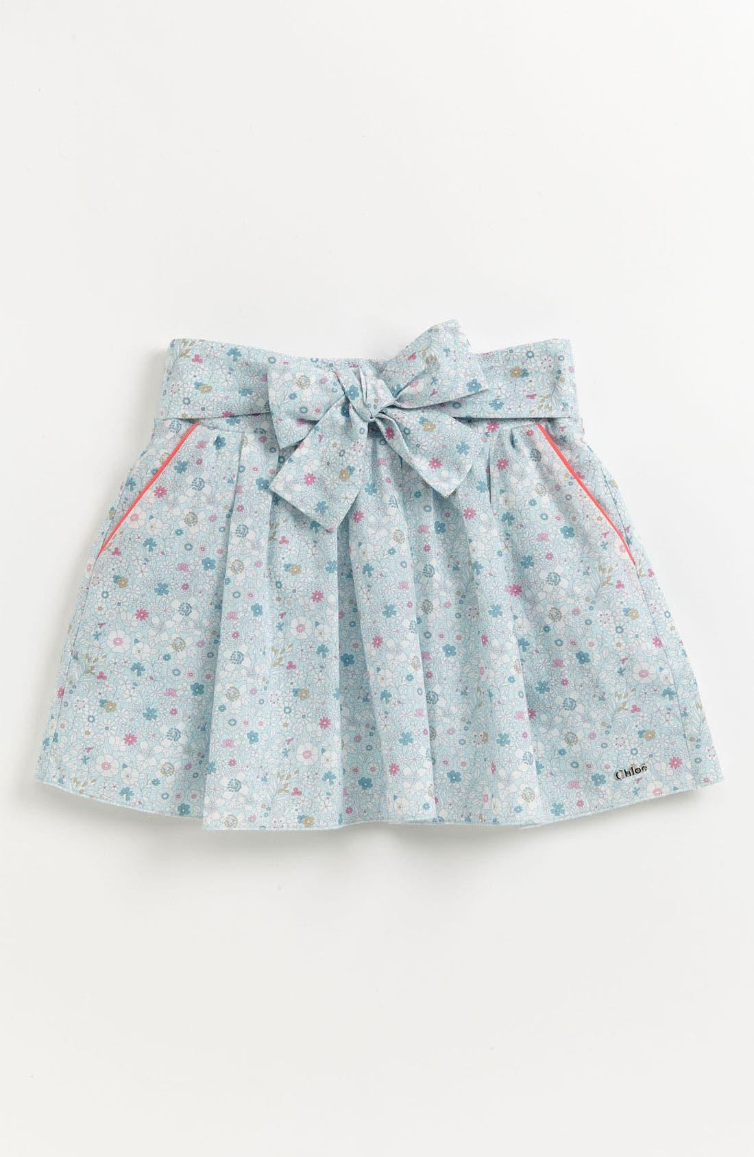 Main Image - Chloé 'Liberty Print' Floral Skirt (Toddler, Little Girls & Big Girls)