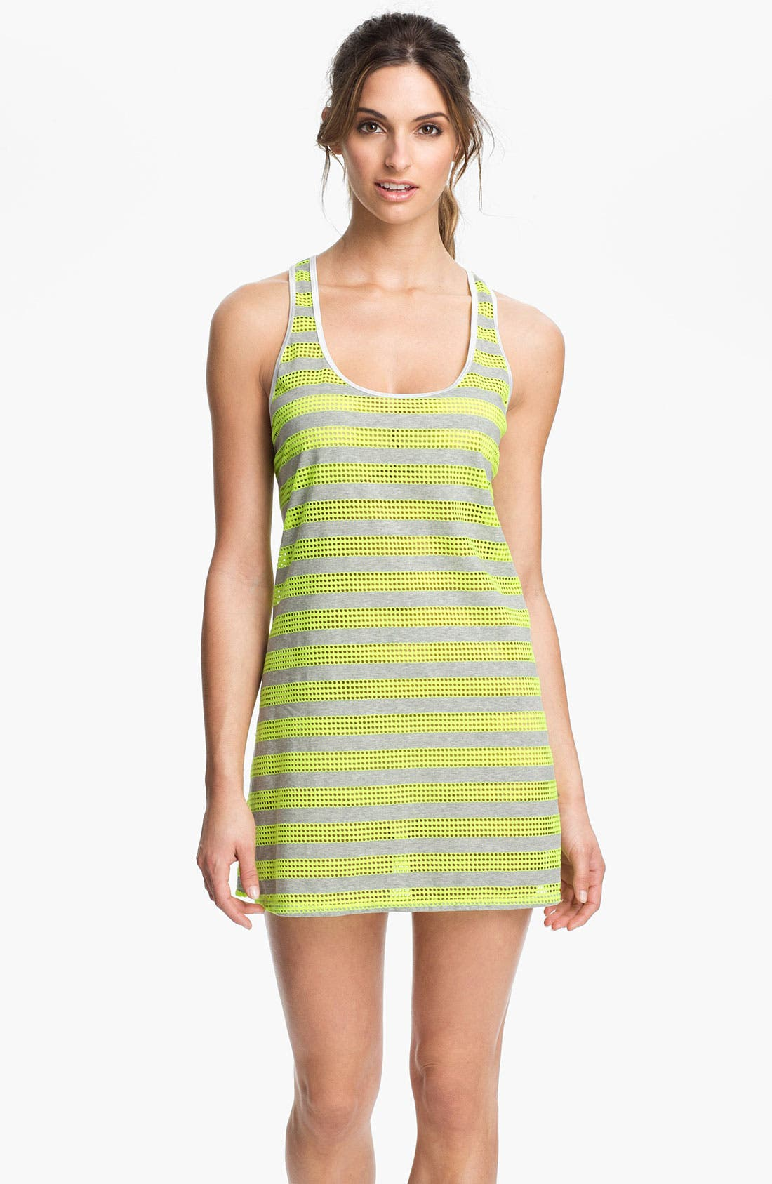 Main Image - Nike Stripe Mesh Dress