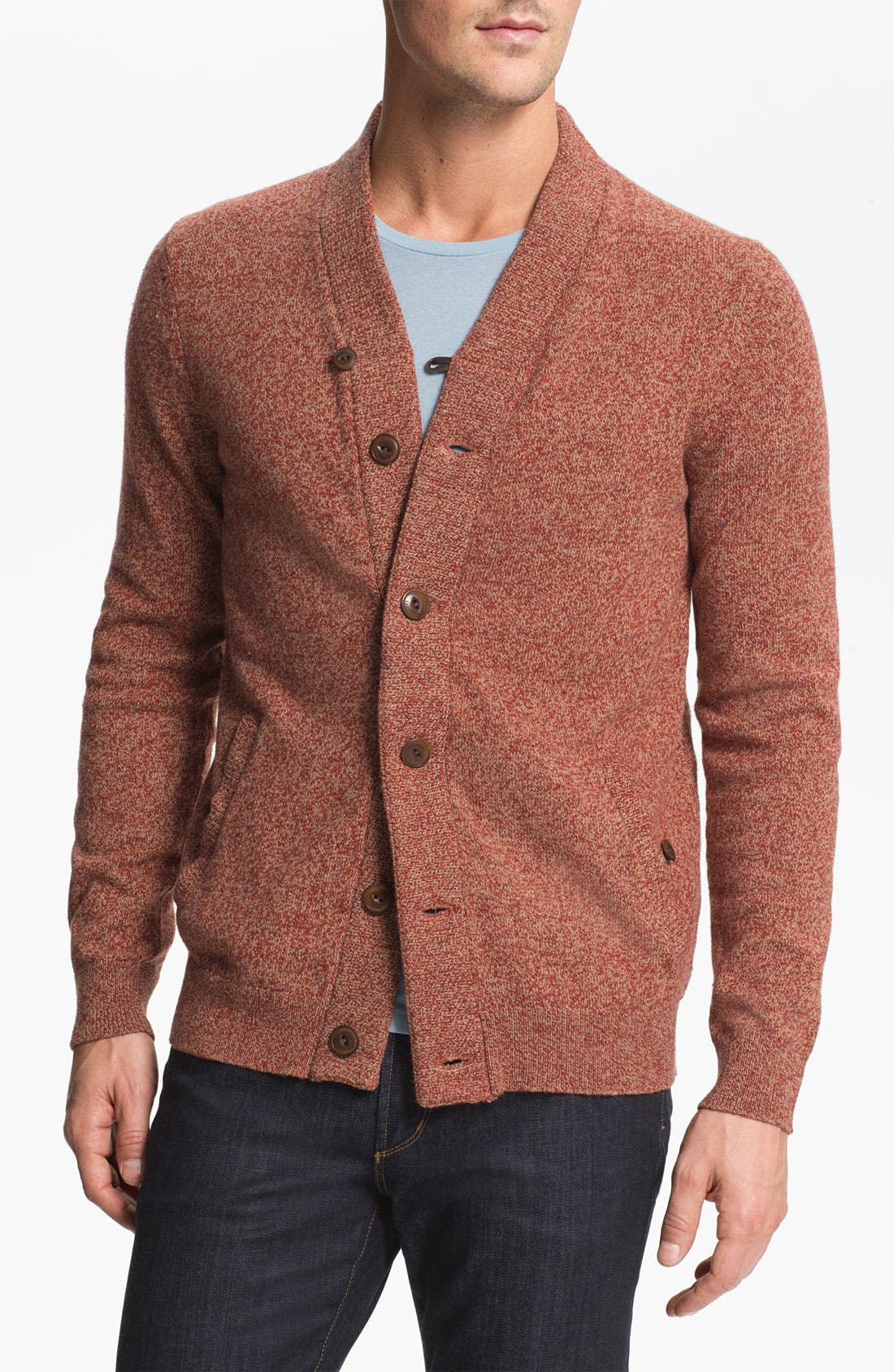 Alternate Image 1 Selected - Ted Baker London 'Brurinz' Shawl Collar Button Cardigan