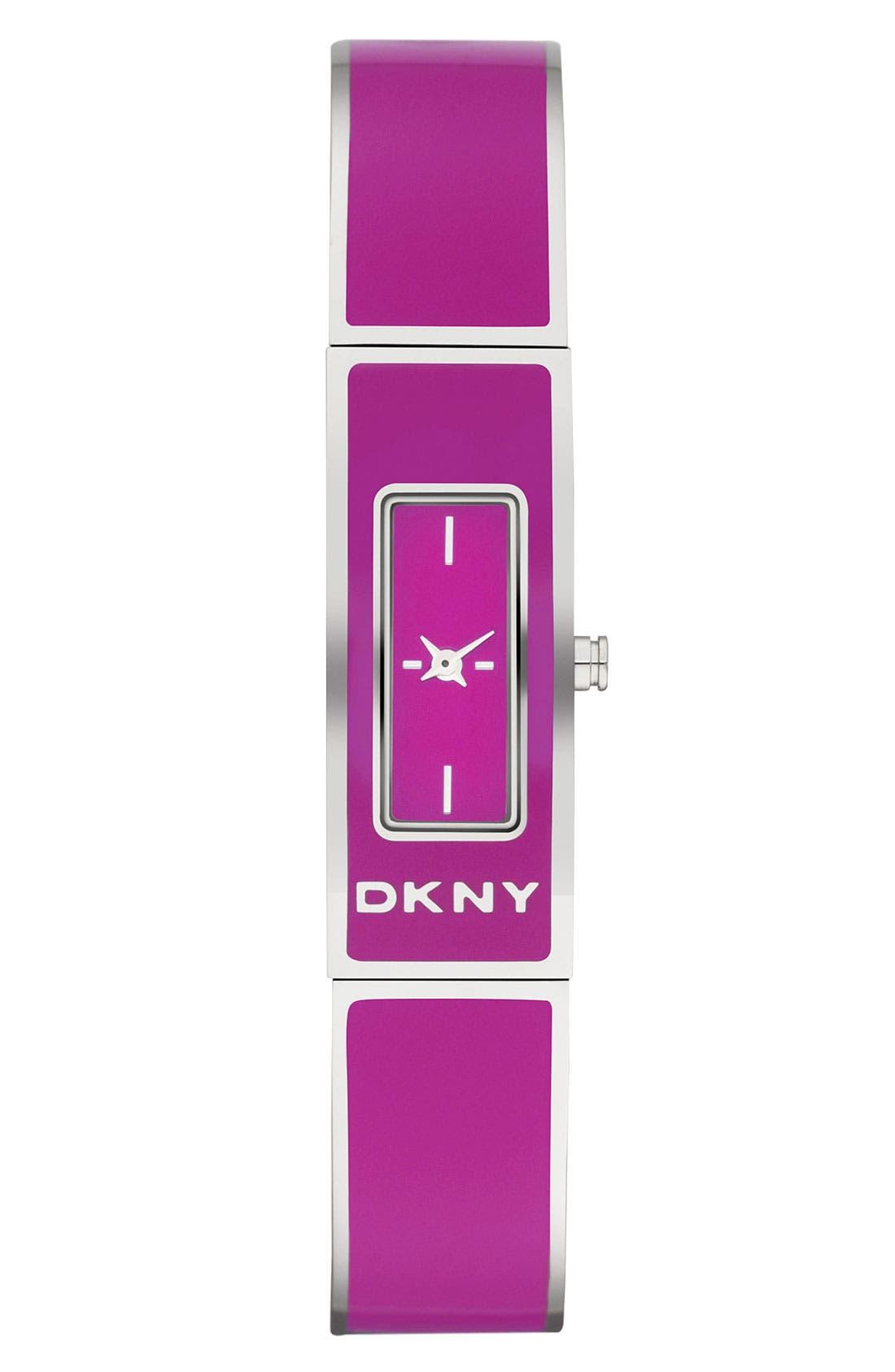 Main Image - DKNY Enamel Bangle Watch, 13mm x 33mm