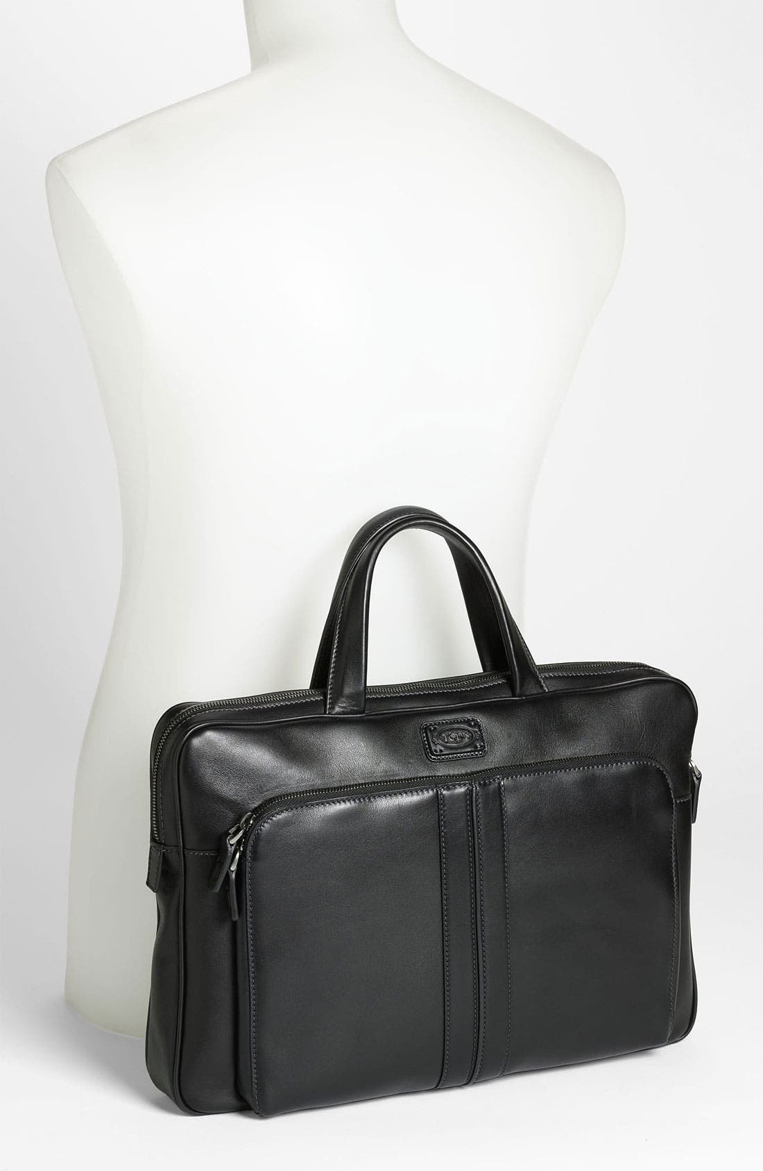Alternate Image 4  - Tod's Slim Leather Briefcase