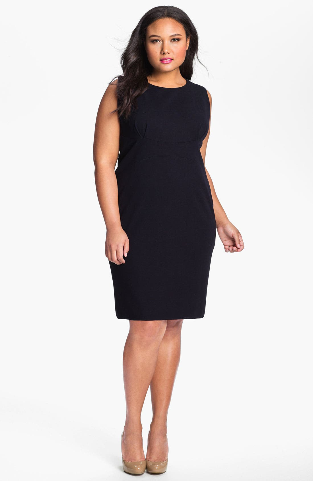 Alternate Image 1 Selected - Exclusively Misook 'Alex' Tailored Sheath Dress (Plus)