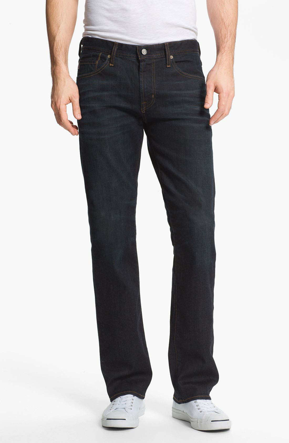 Alternate Image 1 Selected - AG 'Protégé' Straight Leg Jeans (Two Year Matte)