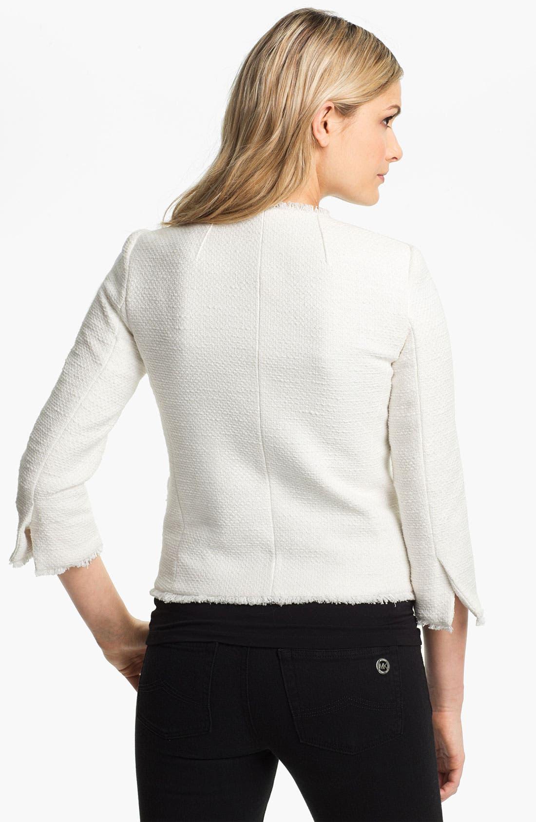 Alternate Image 2  - MICHAEL Michael Kors Zip Front Tweed Jacket