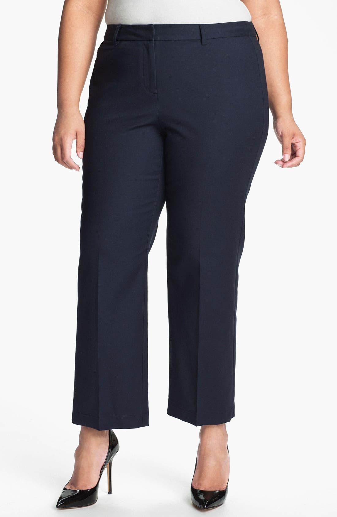 Alternate Image 1 Selected - Kenneth Cole New York Crop Tunnel Pants (Plus)
