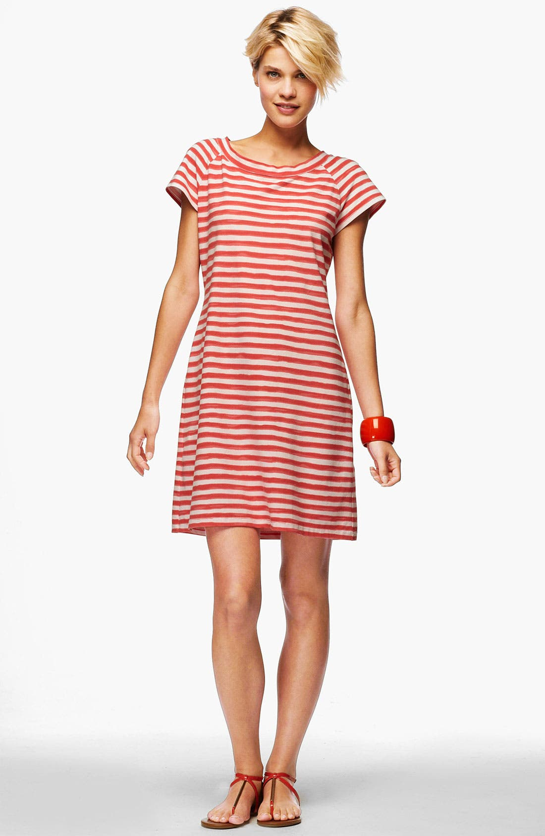 Alternate Image 1 Selected - Lafayette 148 New York Stripe Piqué Dress (Online Only)