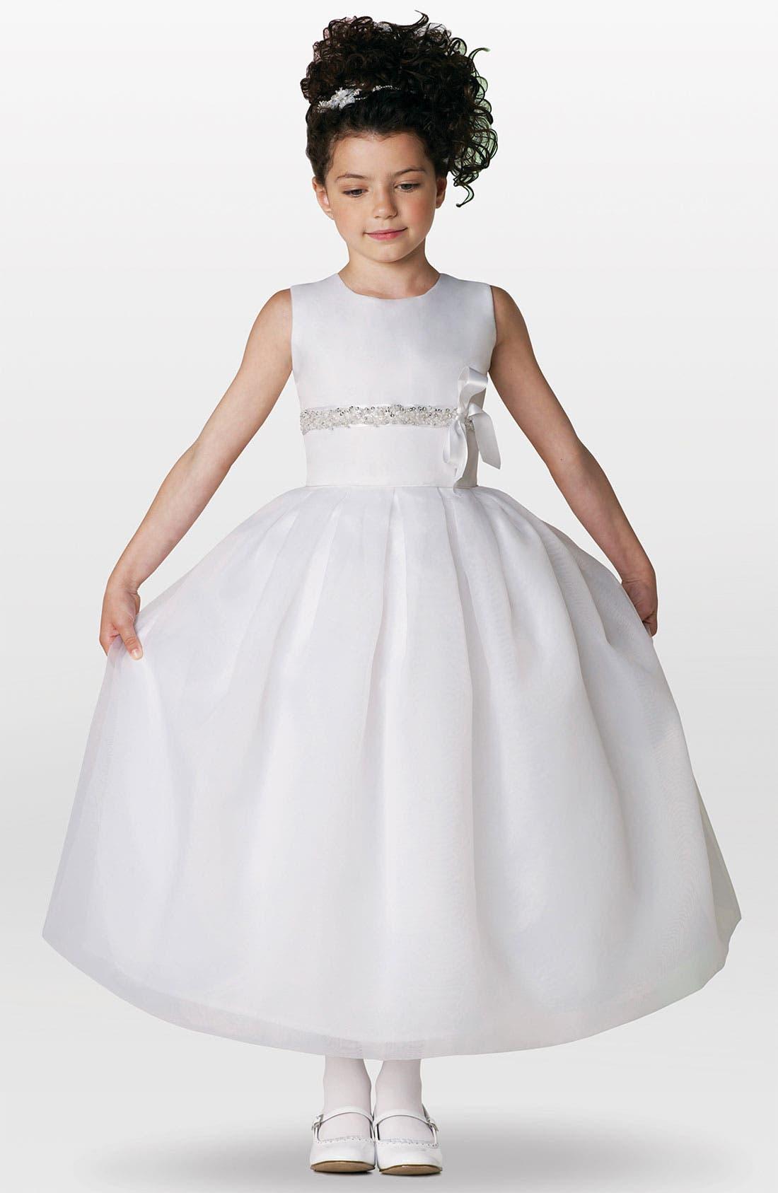 Alternate Image 1 Selected - Joan Calabrese for Mon Cheri Sleeveless Dress (Little Girls & Big Girls)