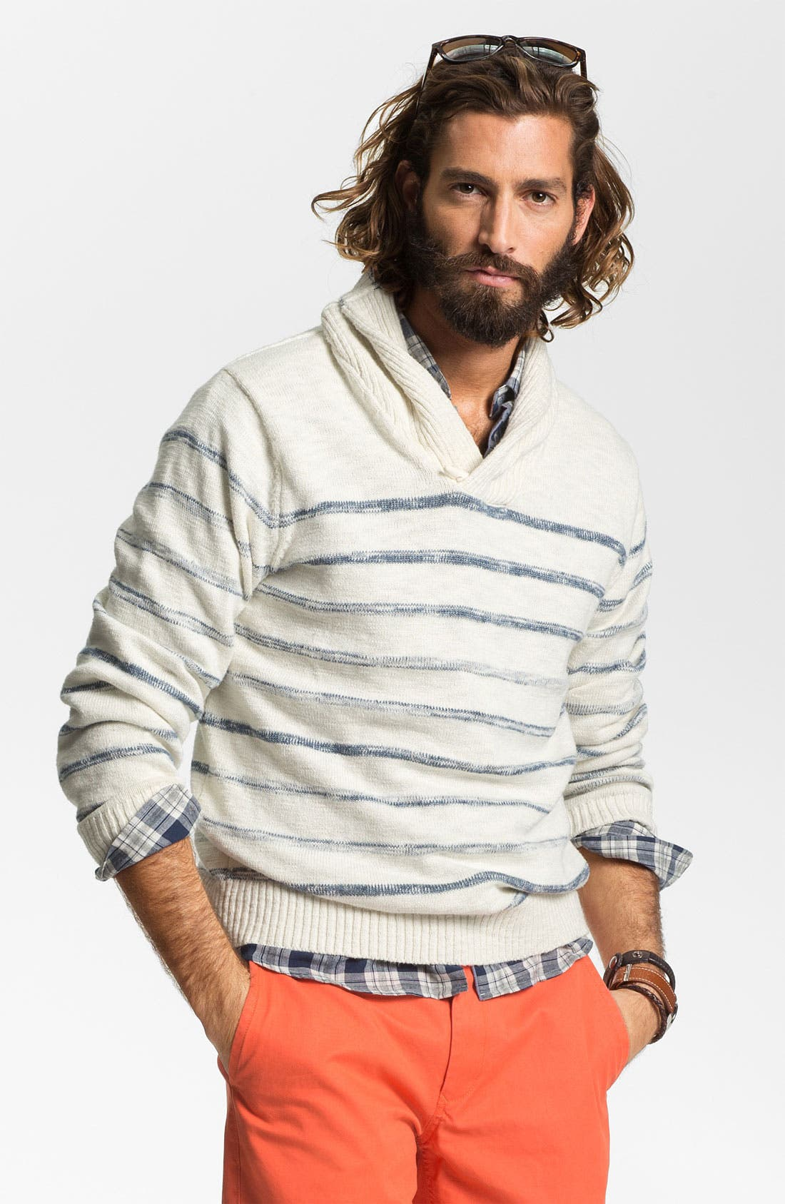 Alternate Image 1 Selected - Hickey Freeman Shawl Collar Sweater