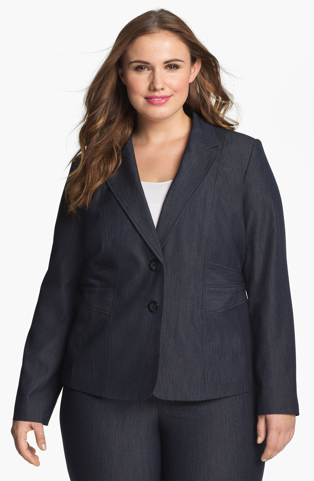 Alternate Image 1 Selected - Sejour Seamed Suit Jacket (Plus Size)
