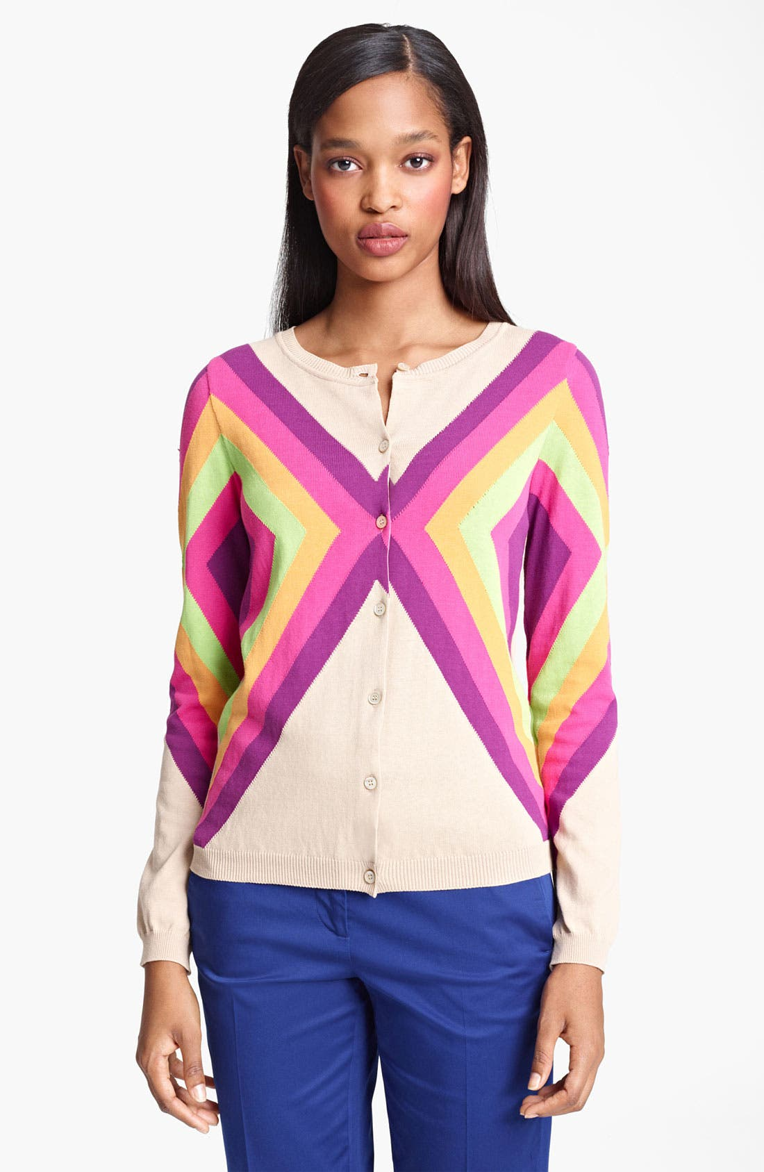 Main Image - Moschino Cheap & Chic Geometric Print Cardigan
