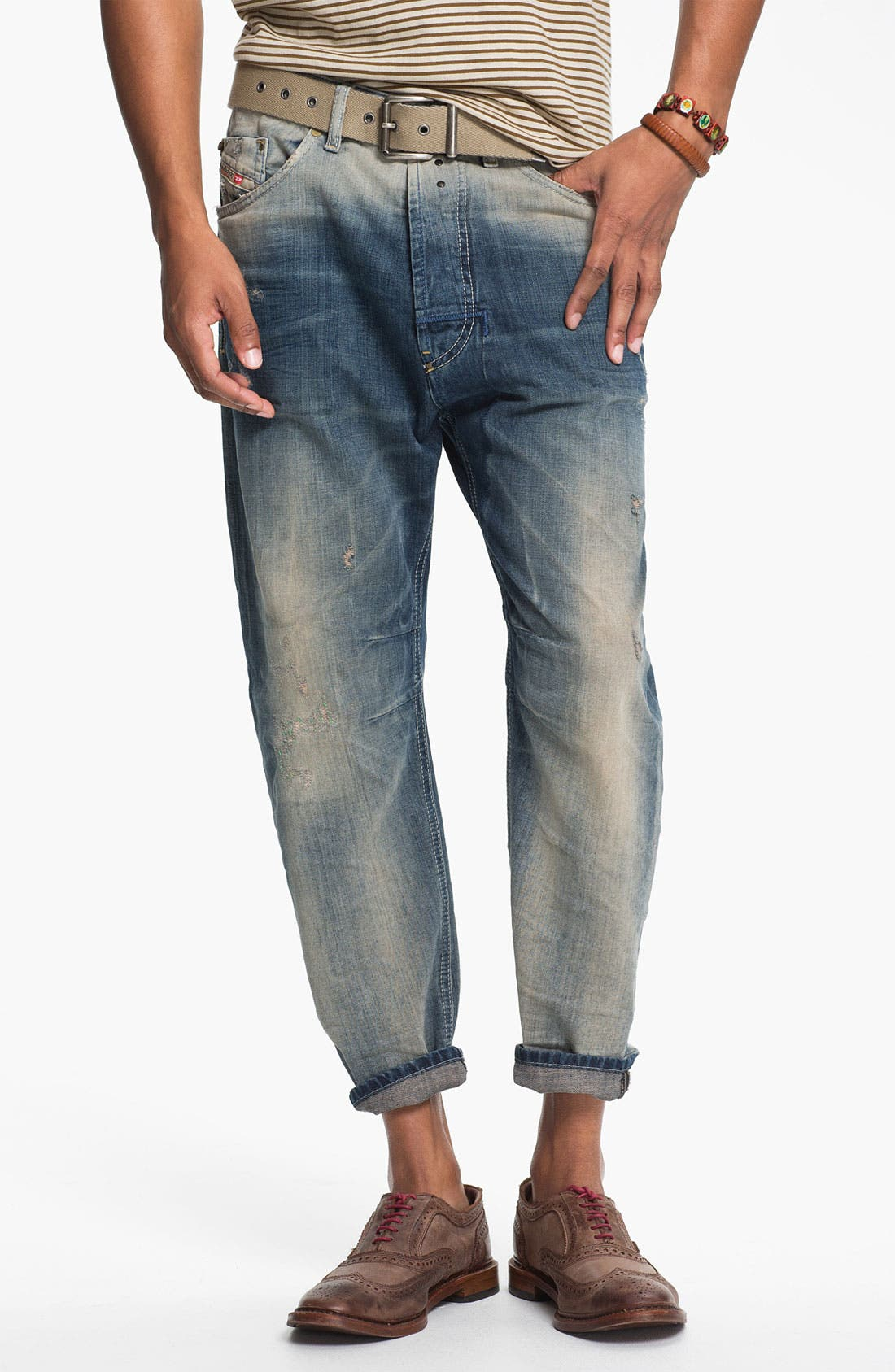 Alternate Image 2  - DIESEL® 'Narrot' Cropped Slouchy Tapered Leg Jeans (0811A)