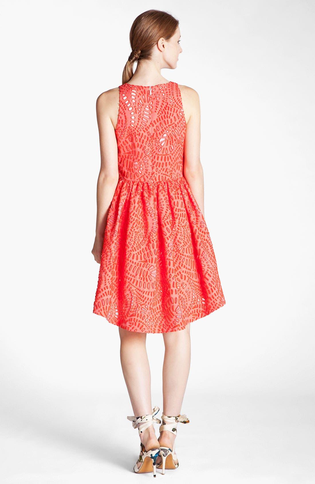Alternate Image 2  - MSGM Laser Cut Full Skirt Dress