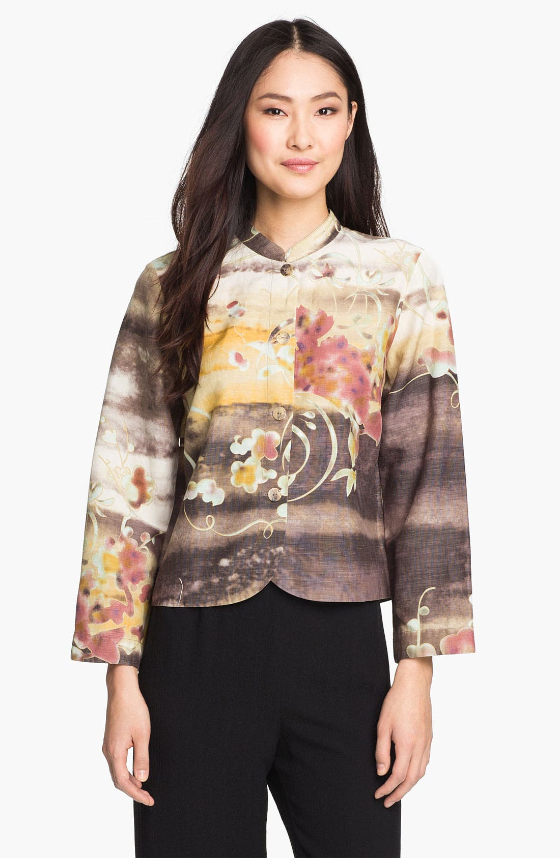 Main Image - Citron Silk & Linen Jacket