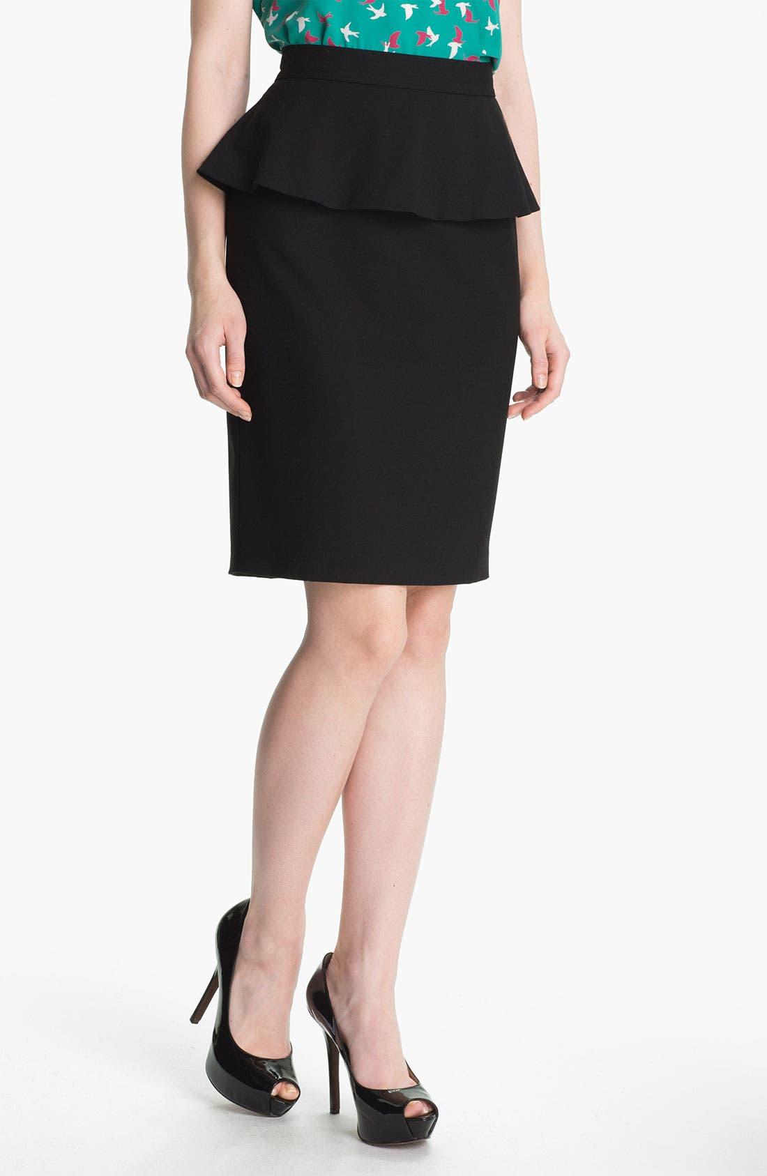 Alternate Image 1 Selected - Vince Camuto Peplum Pencil Skirt