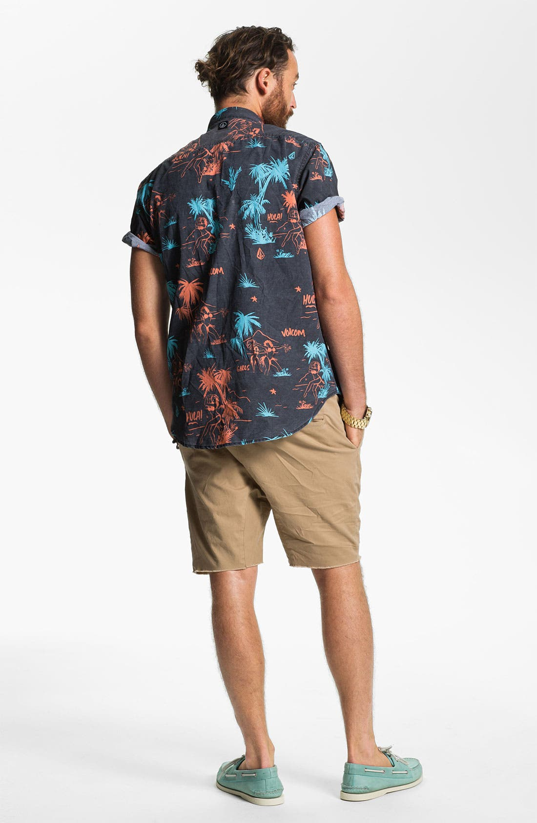 Alternate Image 5  - Volcom 'Mental Fun' Print Woven Shirt
