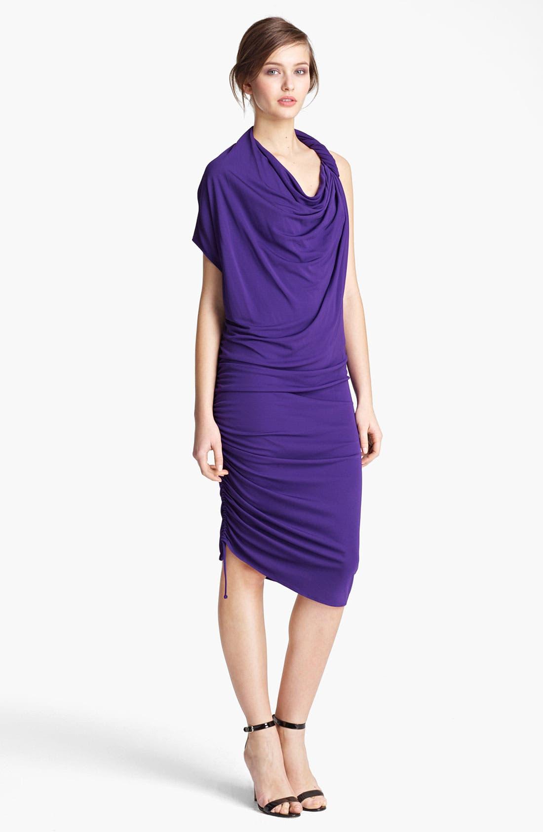 Main Image - Lanvin Asymmetrical Draped Jersey Dress