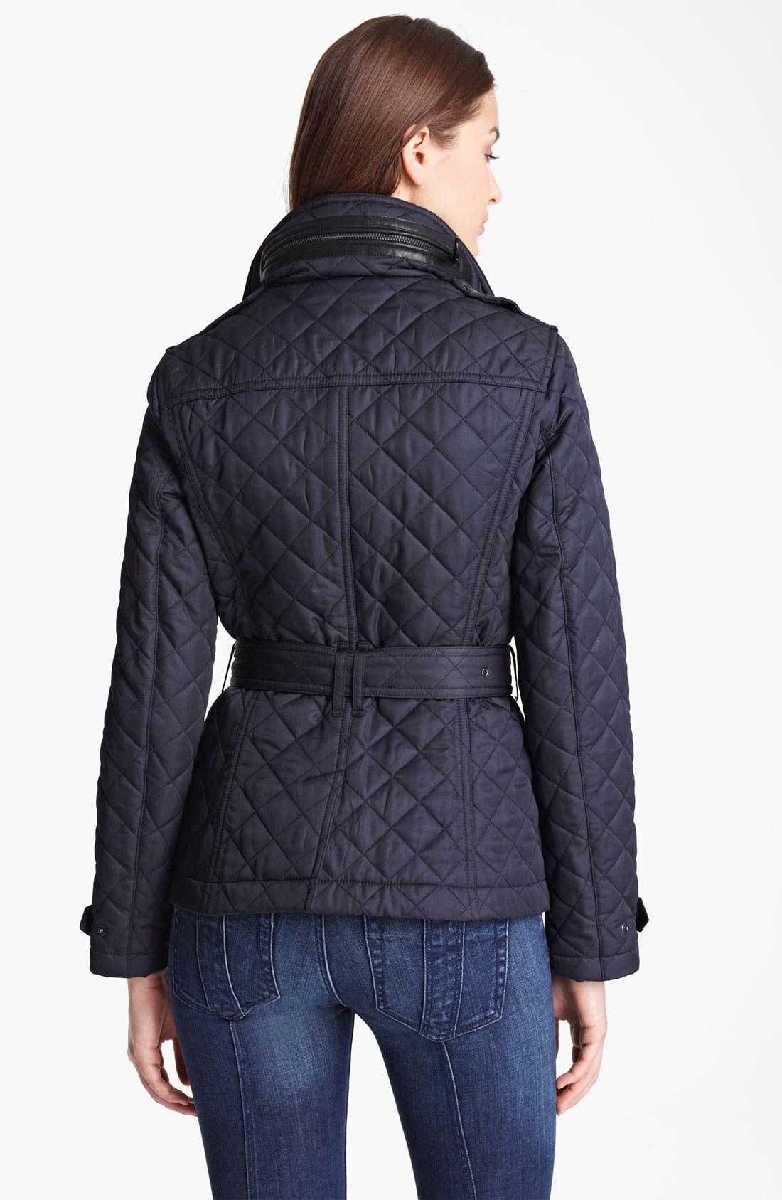 Alternate Image 2  - Burberry Brit 'Wiltford' Quilted Coat