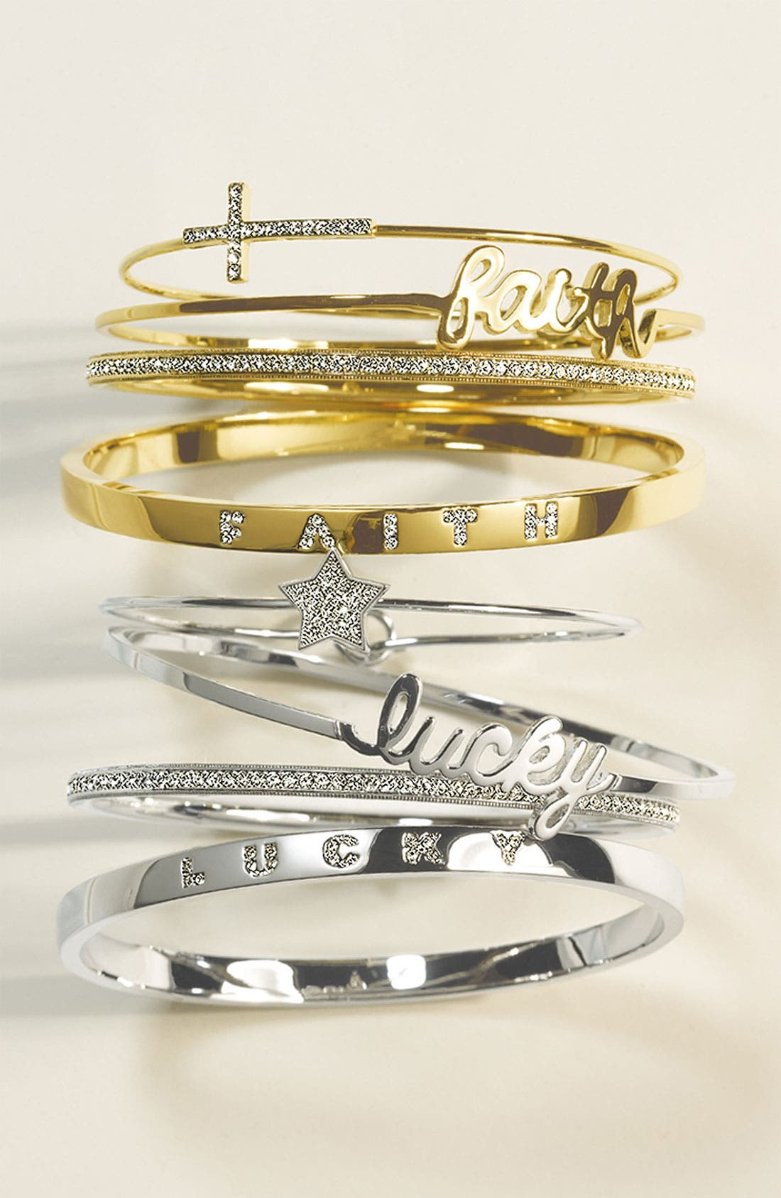 Alternate Image 2  - Ariella Collection 'Messages - Lucky' Script Station Bangle