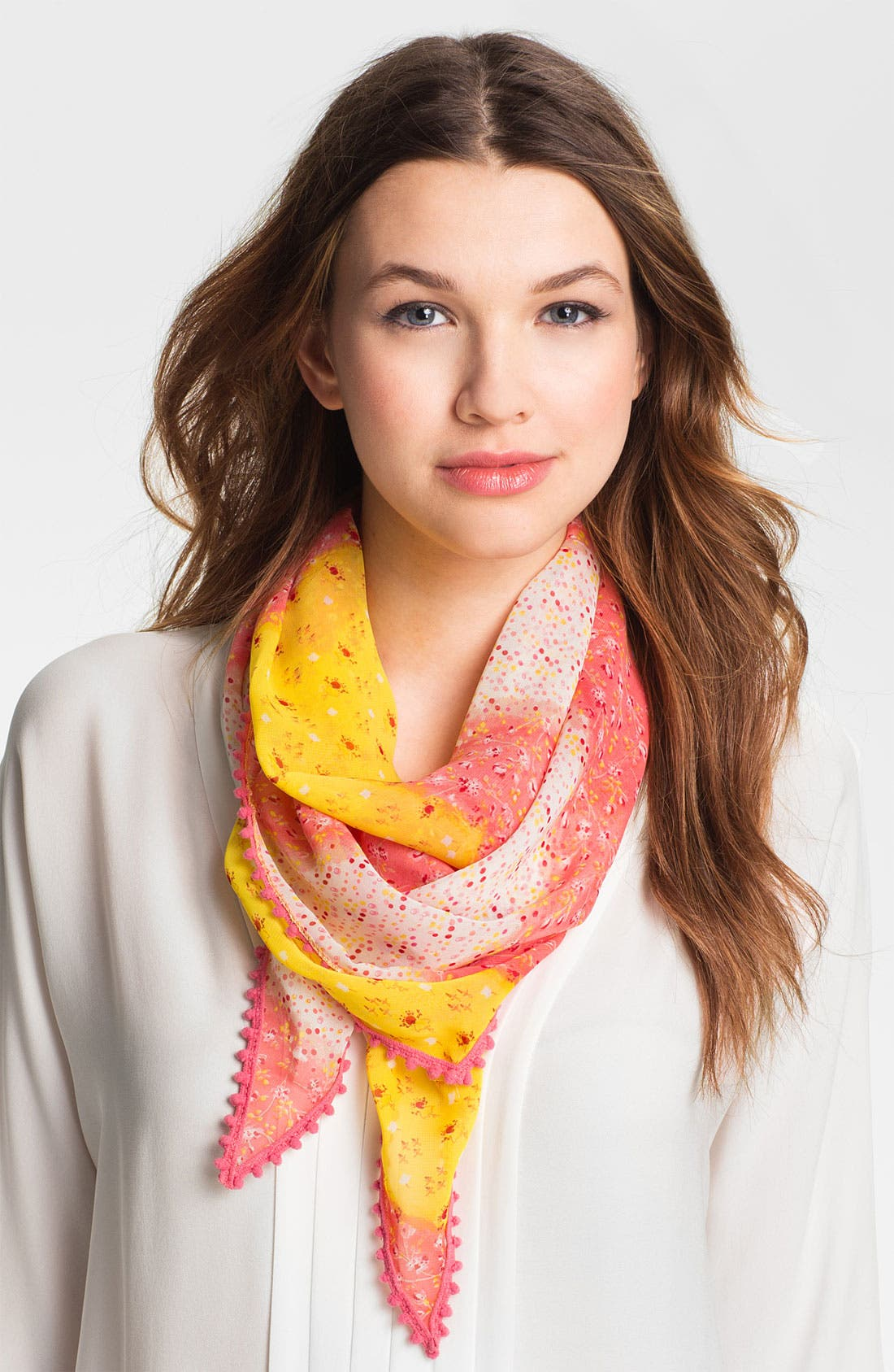 Alternate Image 1 Selected - Betsey Johnson 'Floral Kite' Scarf