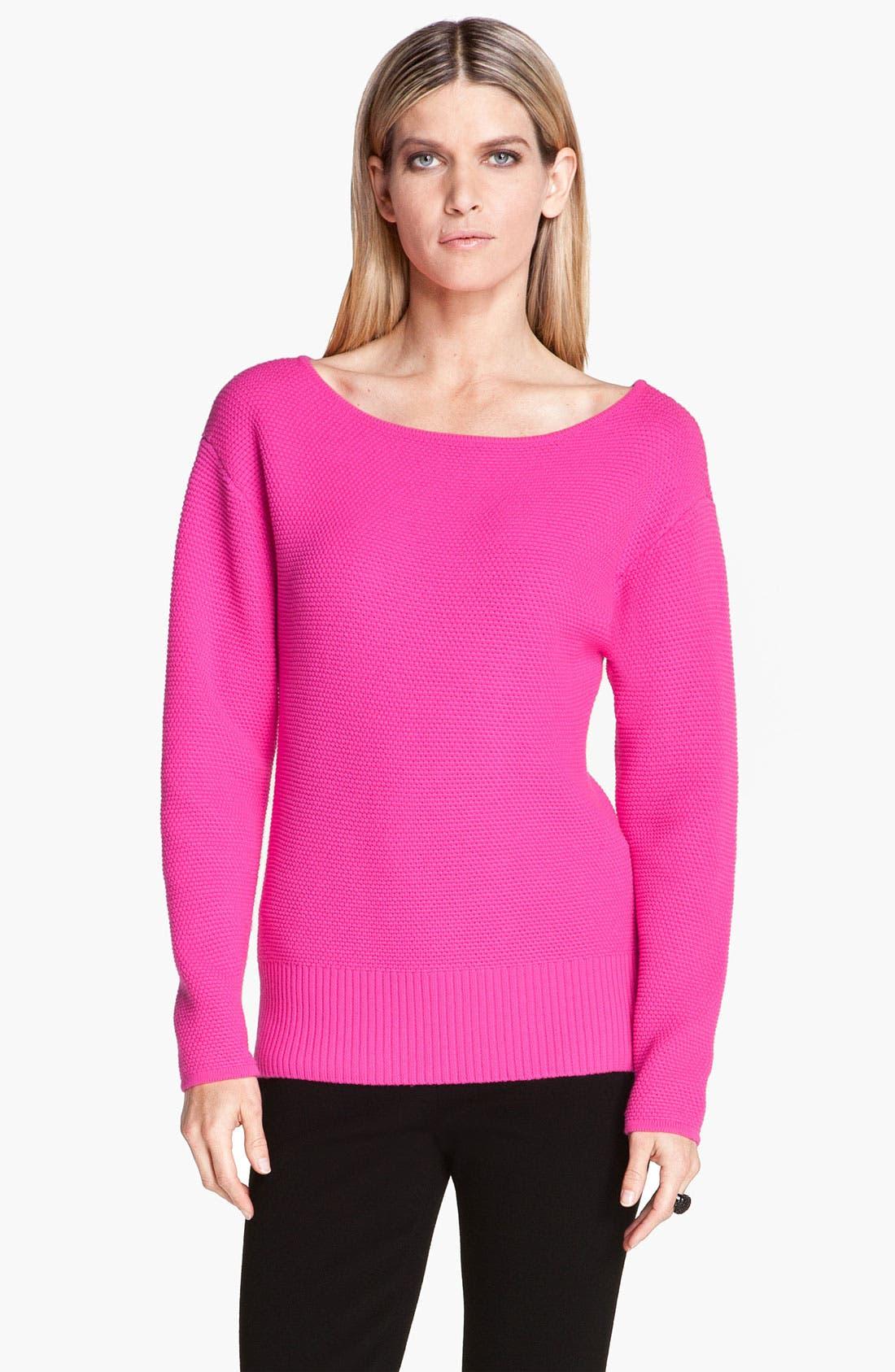 Alternate Image 1 Selected - St. John Yellow Label Micro Piqué Knit Sweater