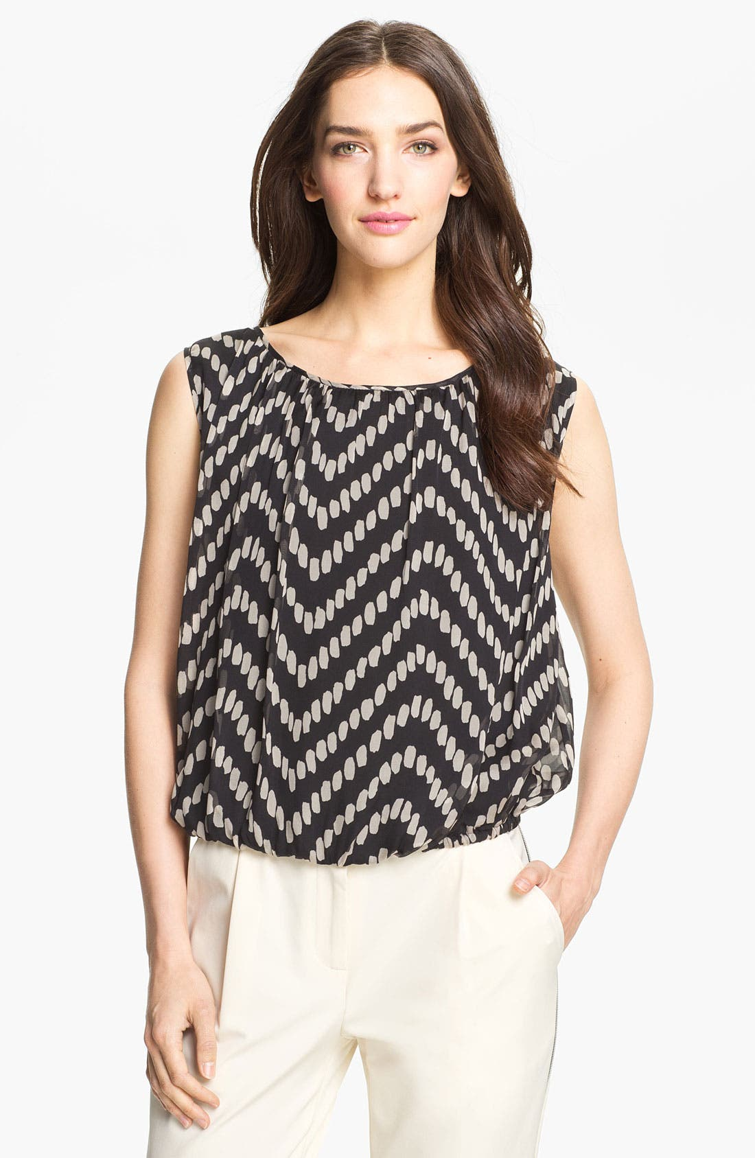 Main Image - Milly Gathered Silk Top