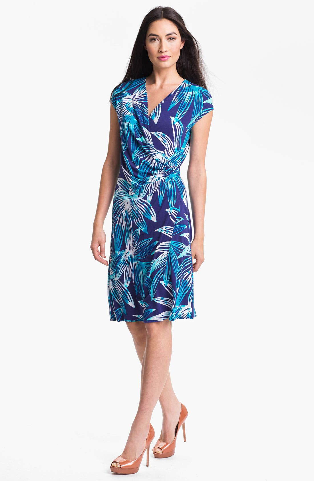 Alternate Image 1 Selected - Tommy Bahama 'Lily Sky' Faux Wrap Dress